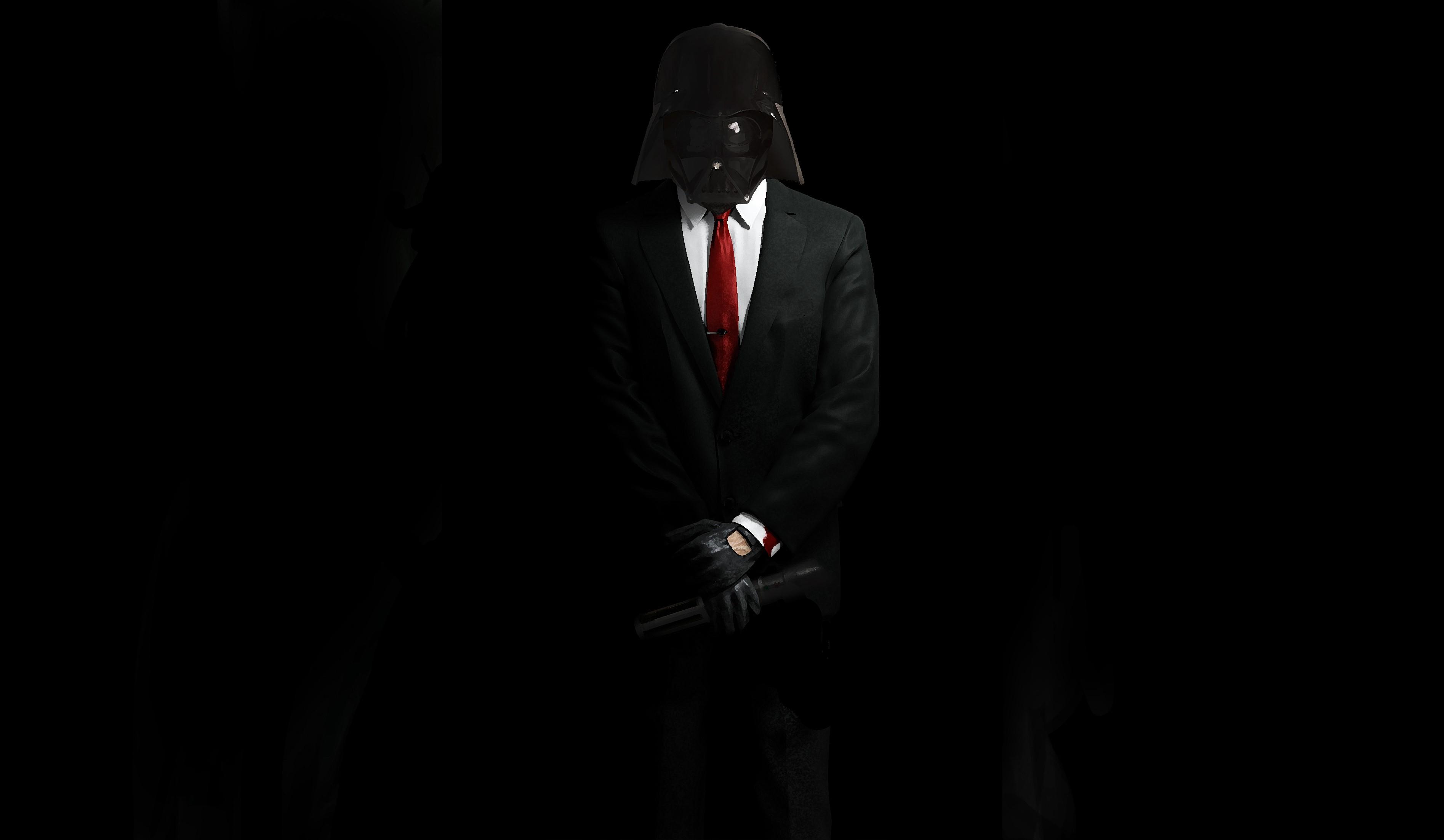 dark darth vader wallpaper