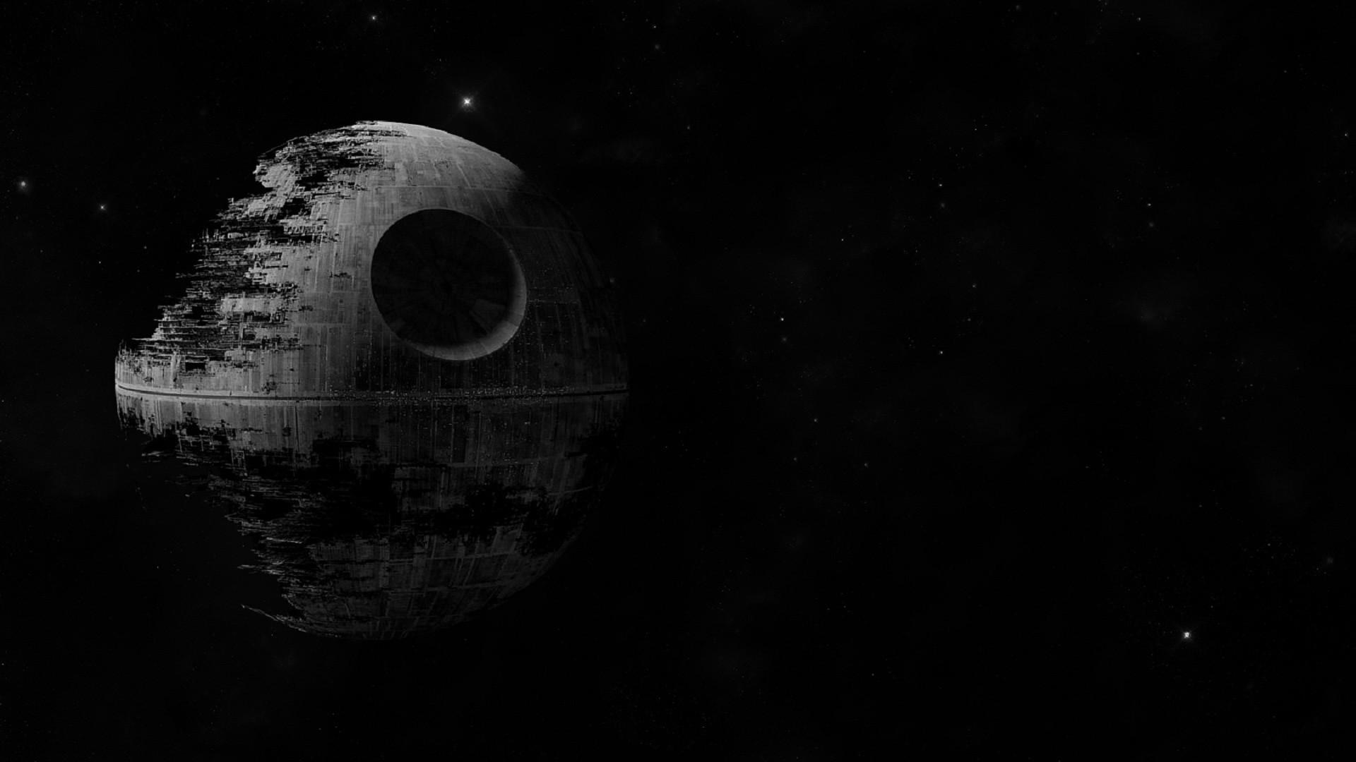Wallpaper : Star Wars, digital art, night, planet, sky, Moon, moonlight, circle, science, universe, astronomy, Death Star, midnight, star, darkness, ...