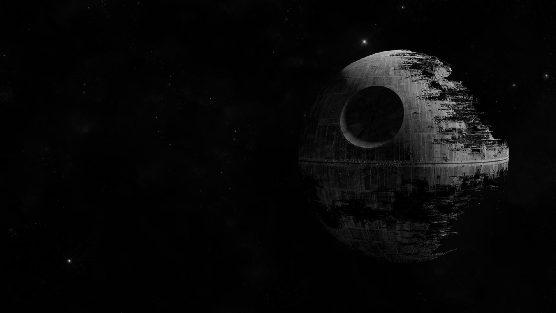 デスクトップ壁紙 スターウォーズ デジタルアート 夜 スペース 月光 天文学 デススター 闇