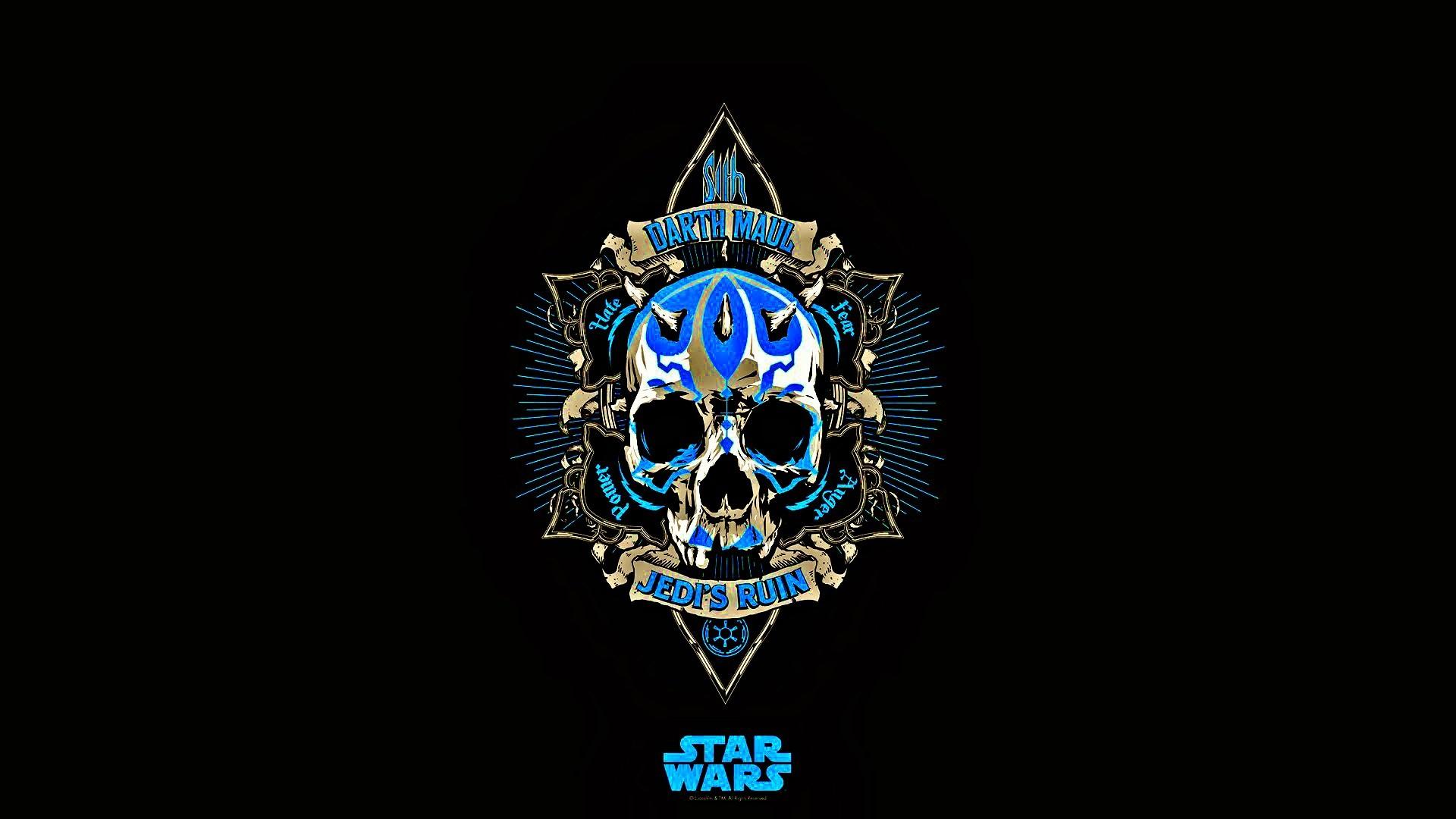Wallpaper Black Star Wars Minimalism Logo Blue Skull Jedi Darth Maul Symbol Emblem Graphics 1920x1080 Px Computer Wallpaper Font 1920x1080 Wallhaven 785869 Hd Wallpapers Wallhere