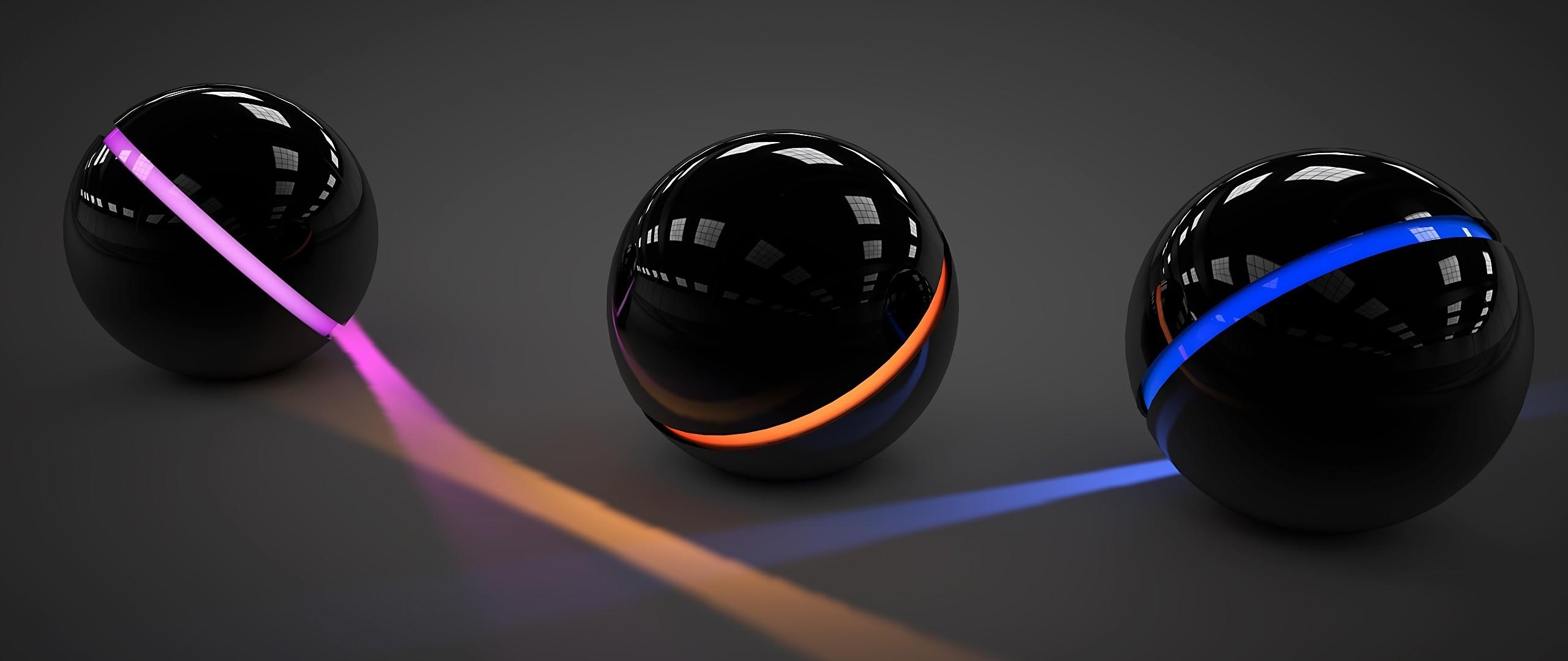 Wallpaper : Black, Abstract, 3D, Sphere, Circle, Ball