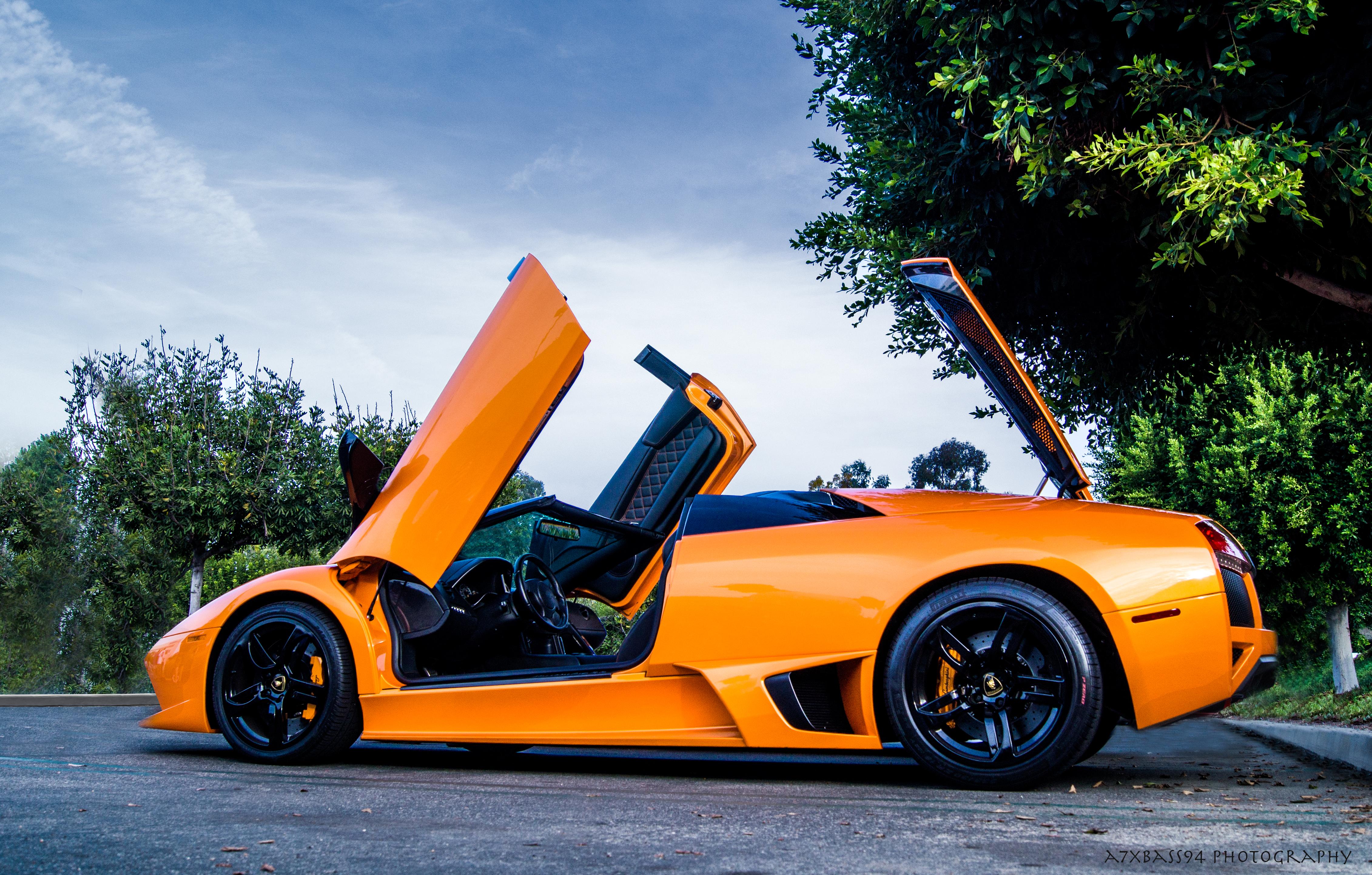 Wallpaper Black Orange Door Lamborghini Gallardo Sports Car