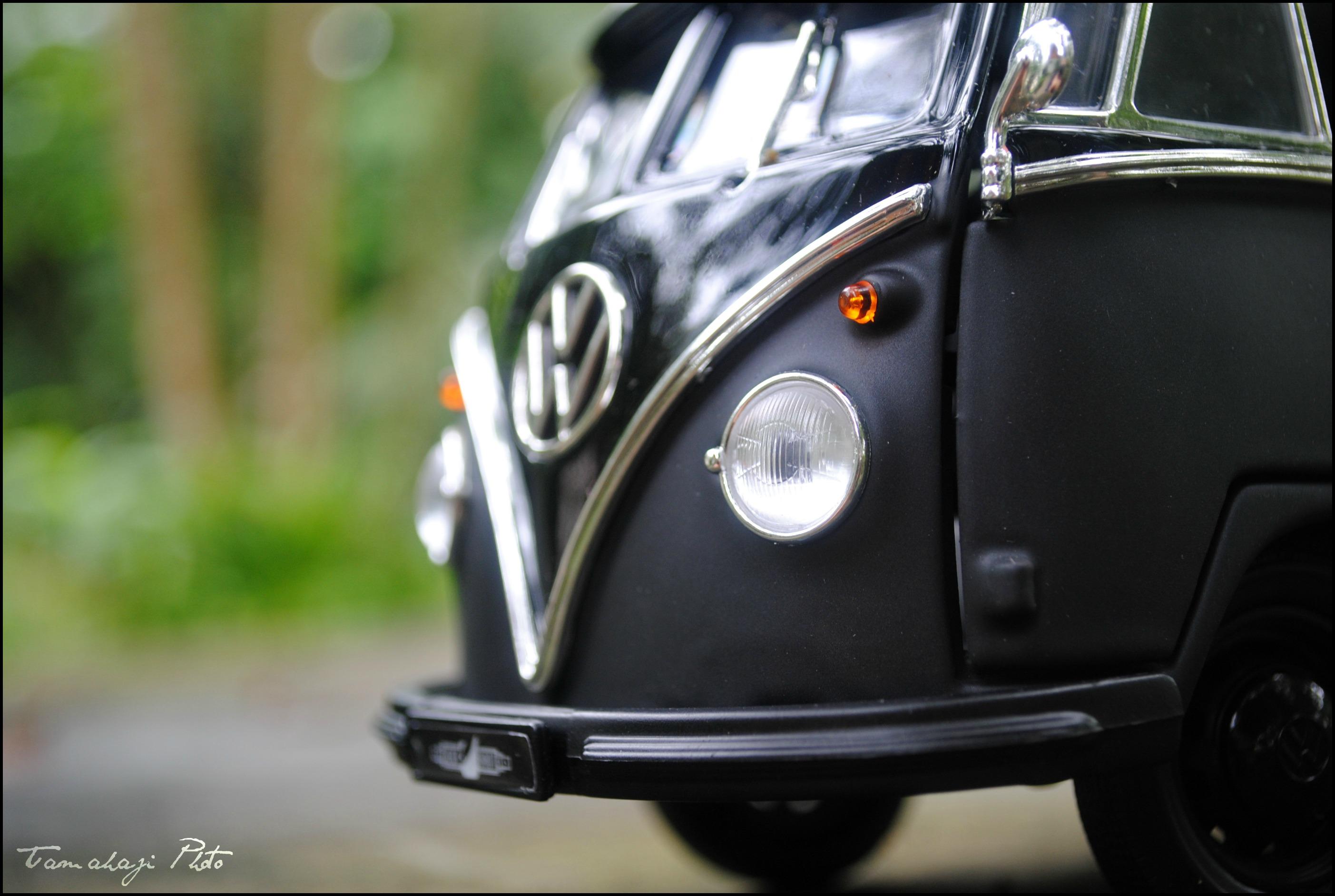 Wallpaper Black Volkswagen Germany Bokeh Combi