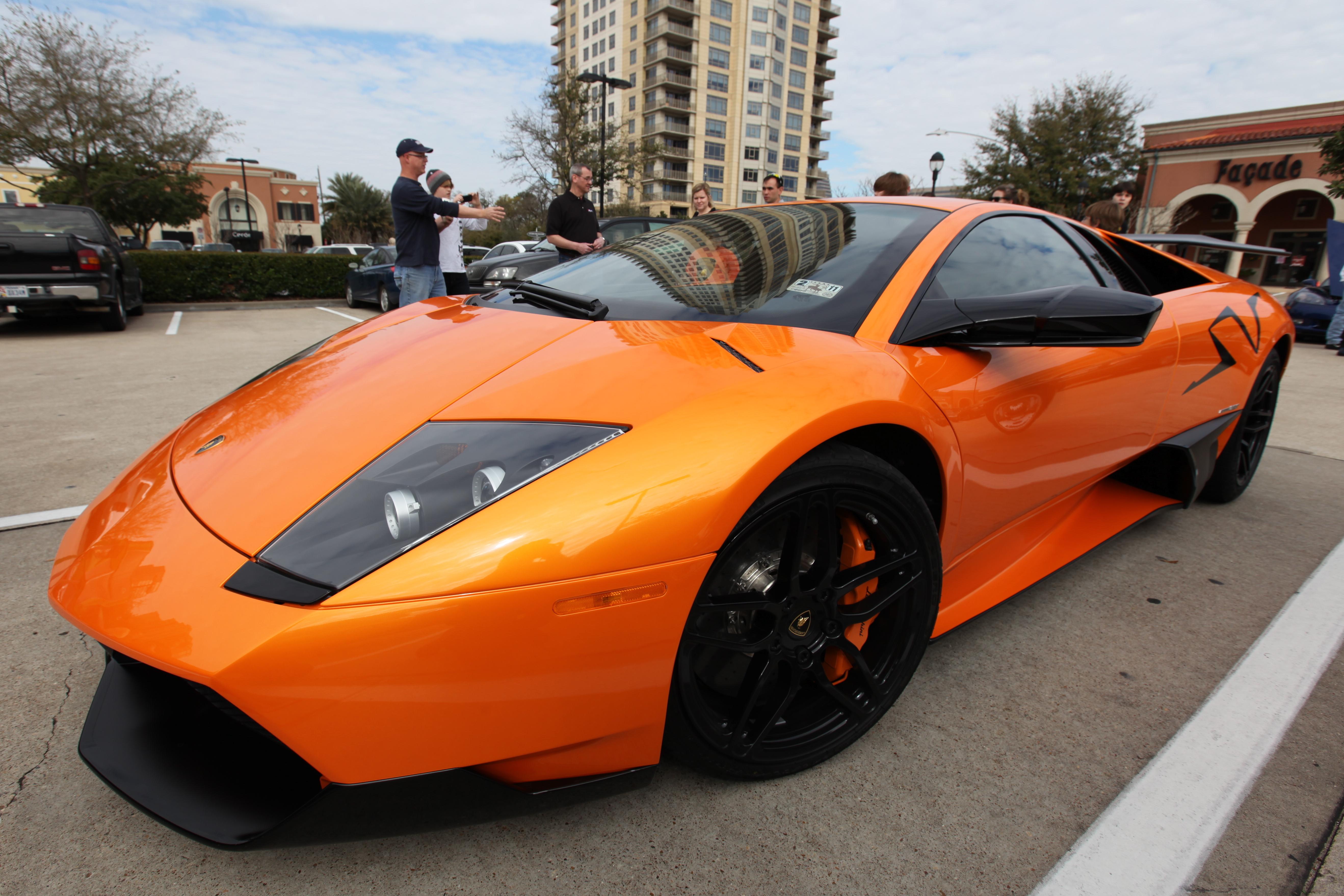 Wallpaper Black Coffee Orange Lamborghini Gallardo Sports Car
