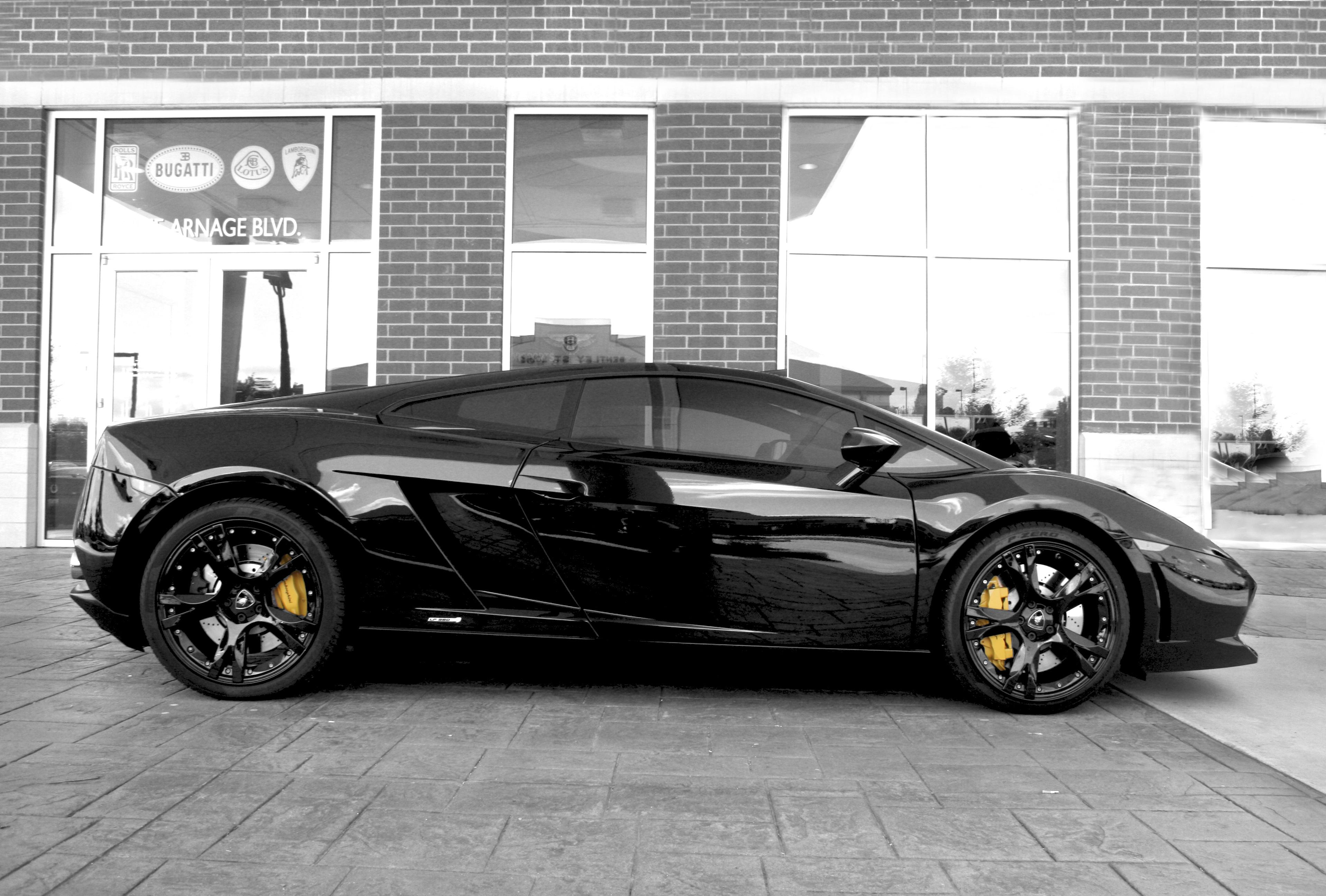 Bakgrundsbilder Svart Profil Gul Kaffe Lamborghini Aventador