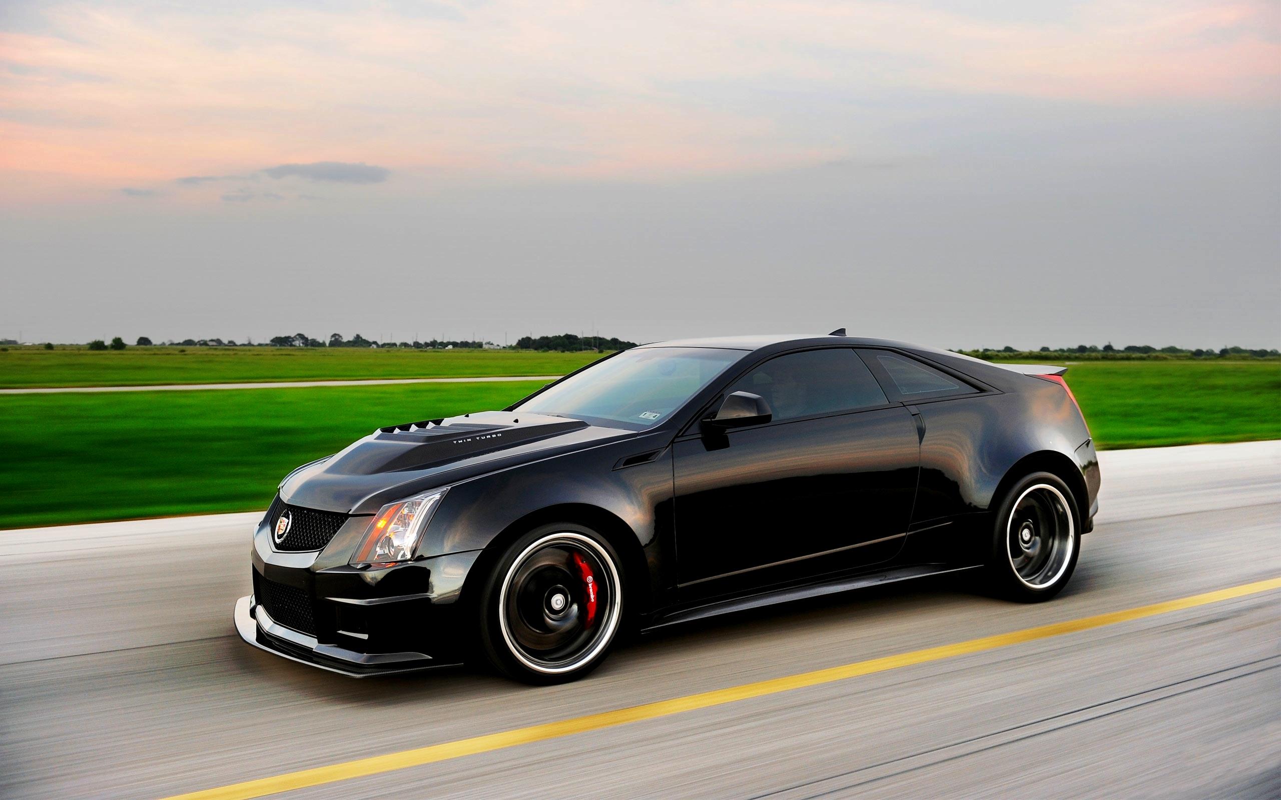 Wallpaper Black Side View Sports Car Sedan Cadillac Cts V