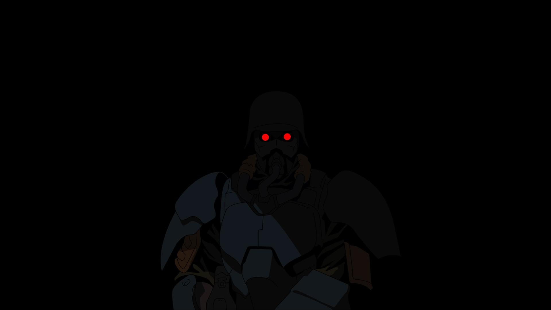 Black Dark Anime Red Eyes Jin Roh Darkness Screens