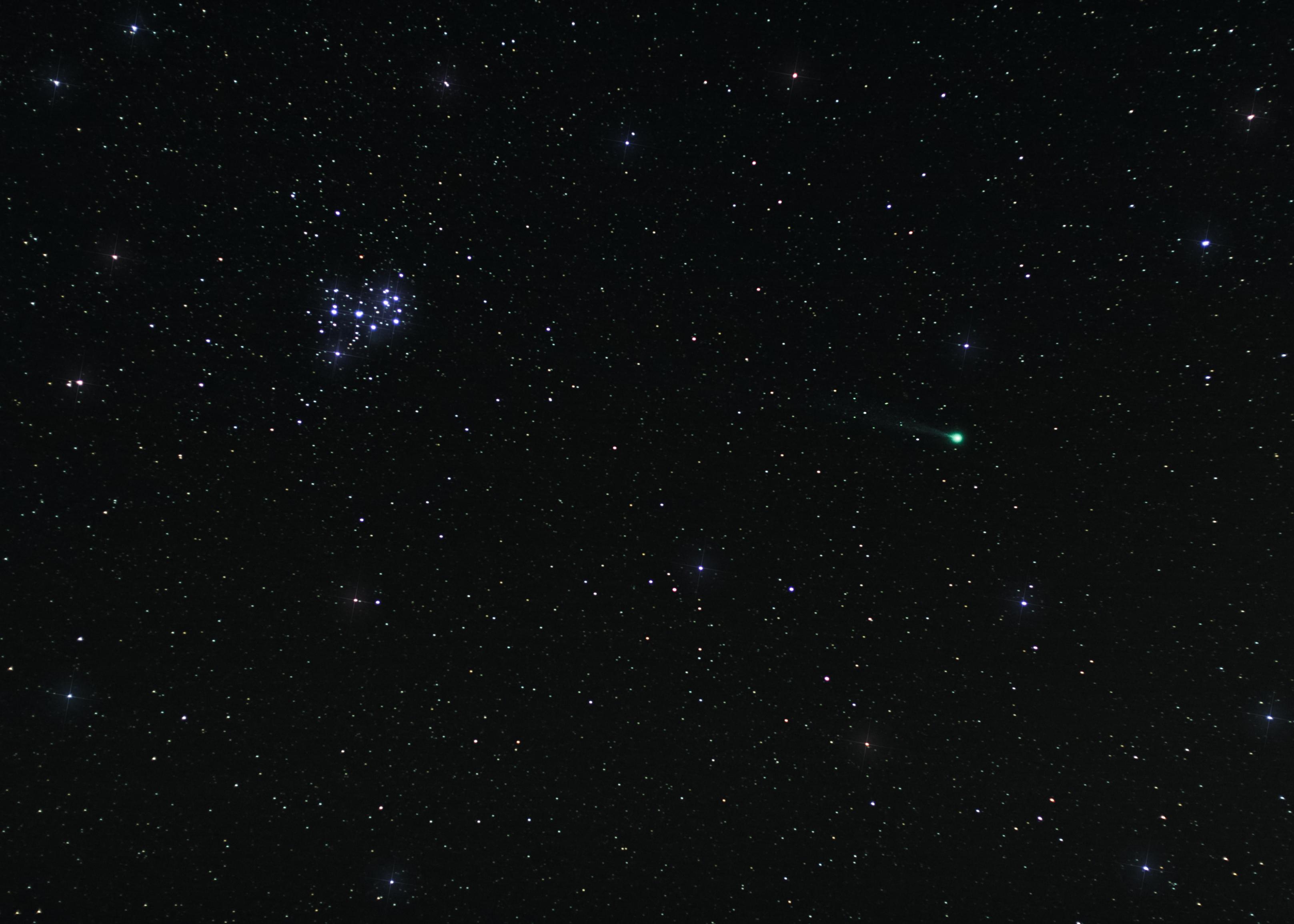 Sfondi Nero Buio Notte Coda Galassia Spazio Stelle Verde