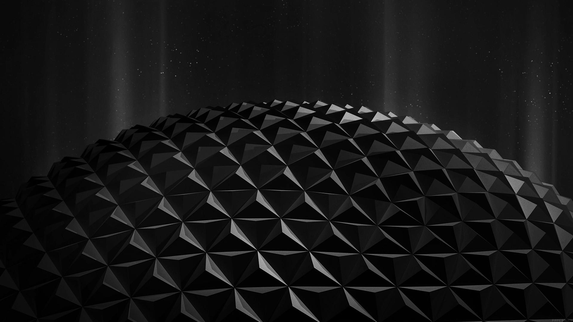 Wallpaper Digital Art Night Abstract 3d Minimalism Sphere