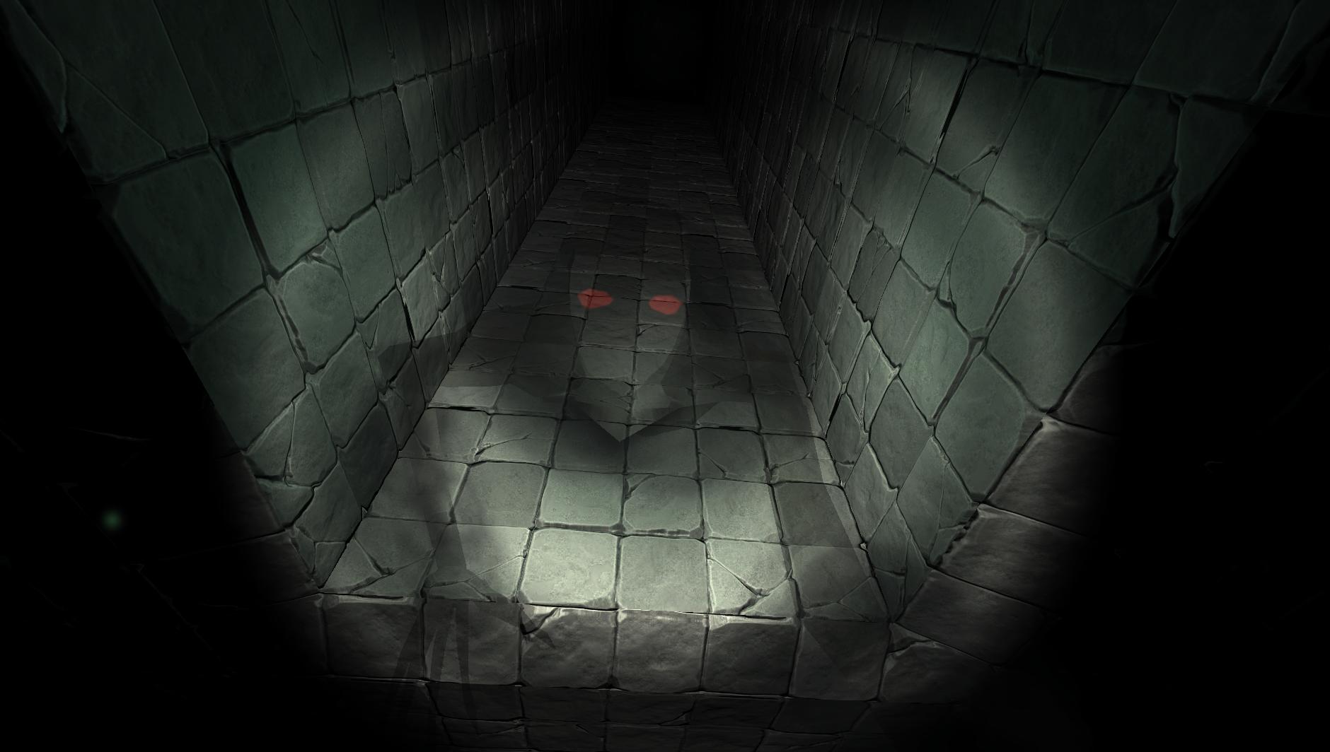 Hochwertig Schwarz Digitale Kunst Videospiele Einfarbig Dunkel Gruselig Horror  Minimalismus Betrachtung Schatten Flur Symmetrie Rote Augen Textur