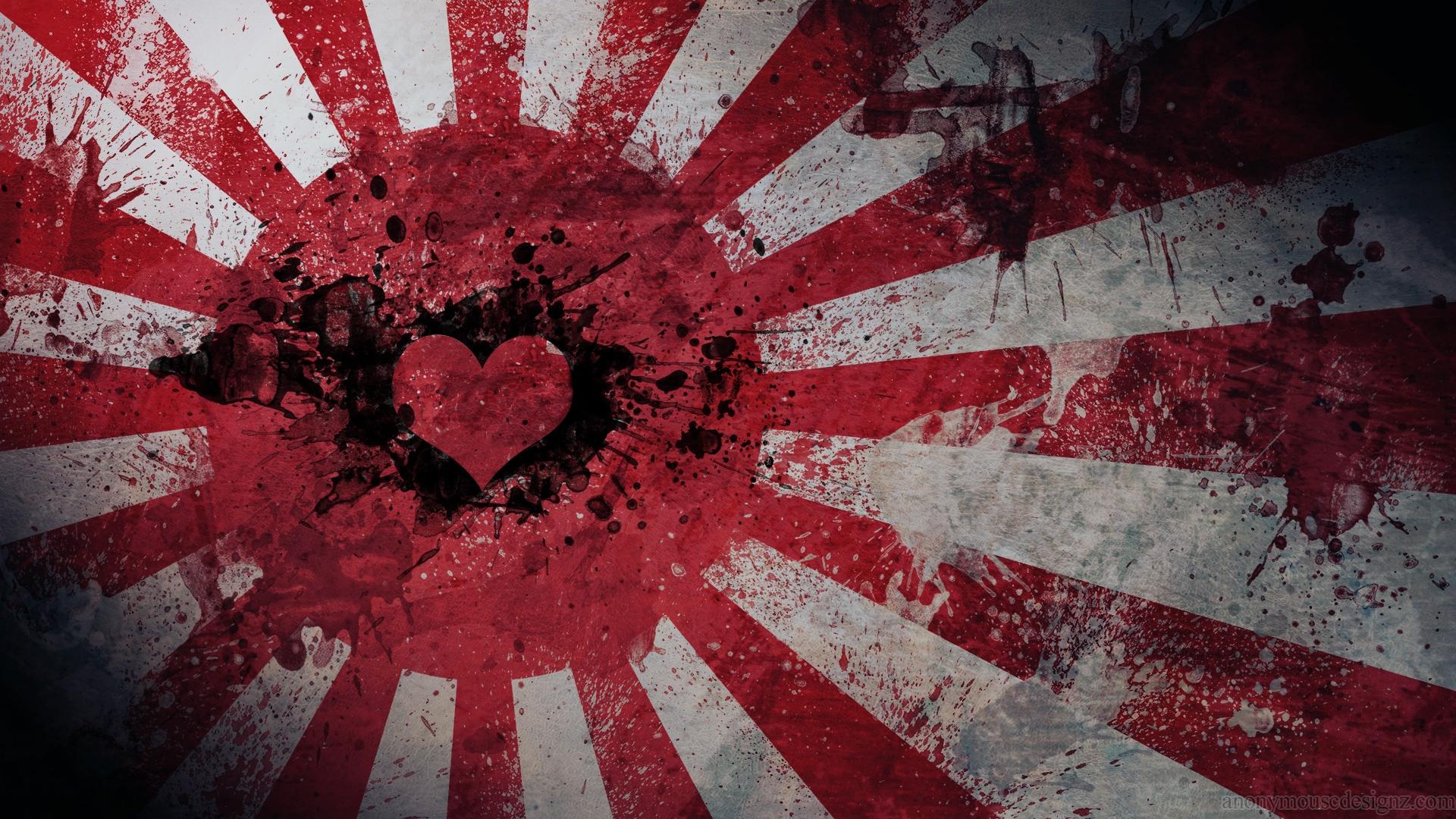 Wallpaper Black Heart Red Symmetry Texture Graphics