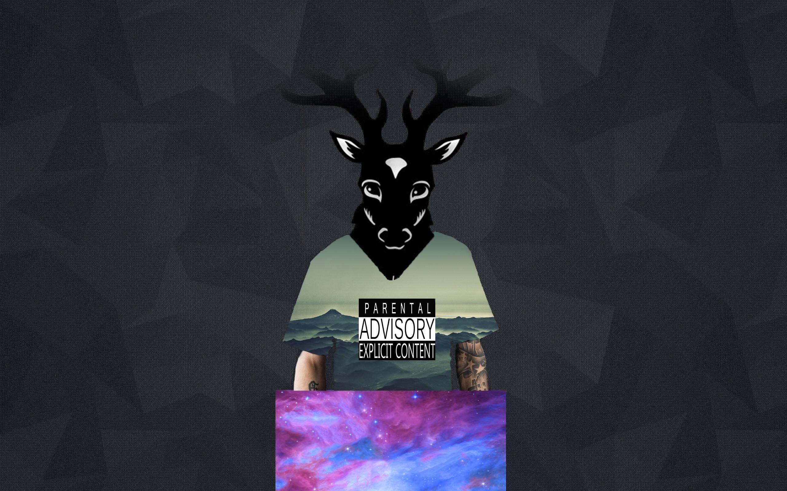 Sfondi Nero Illustrazione Cervo Mare Astratto Spazio Cielo