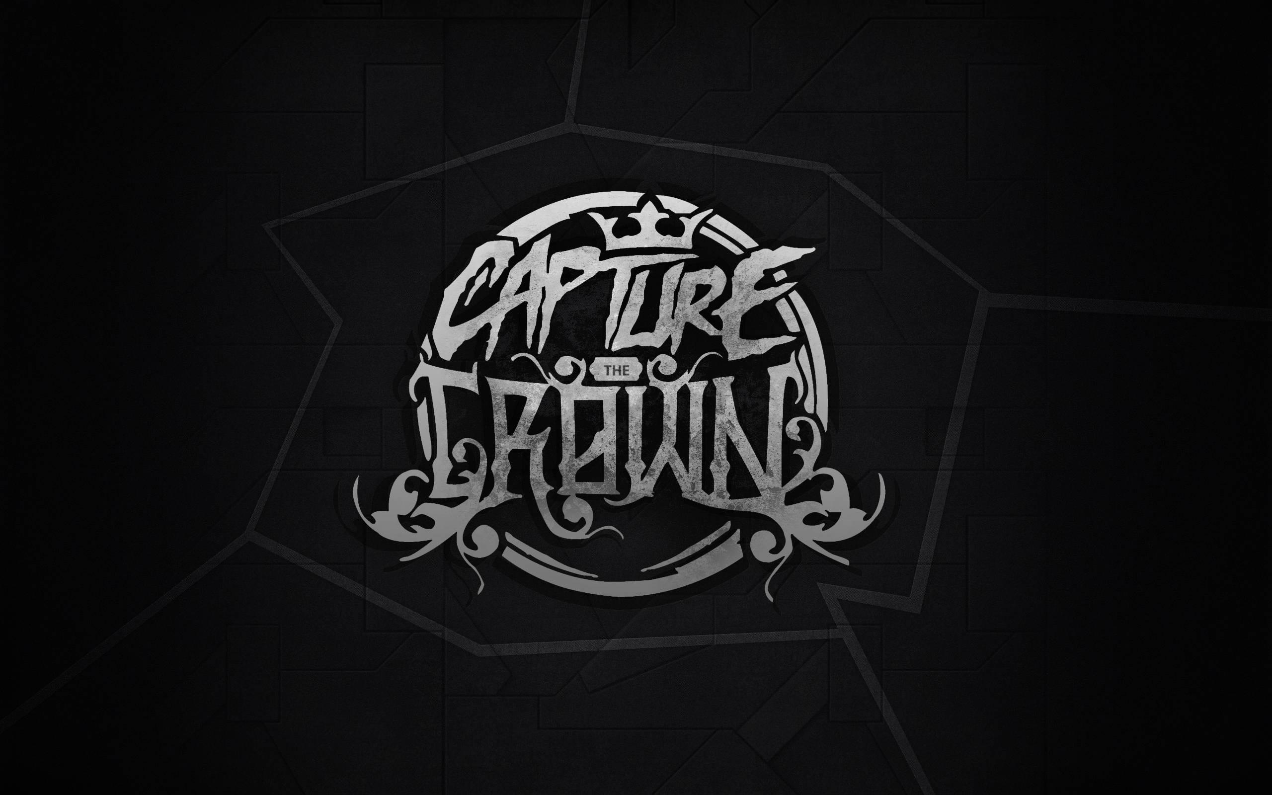 Black Illustration Monochrome Minimalism Typography Text Logo Blackboard Circle Metalcore Brand Capture The Crown Design Darkness