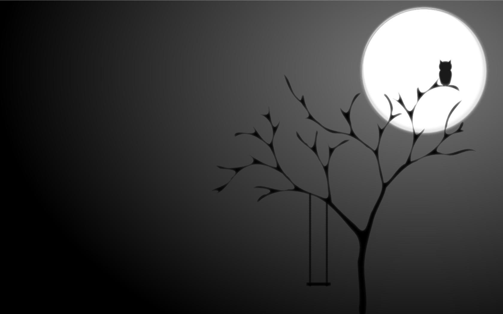 Fondos de pantalla ilustraci n monocromo sombra - Papel pintado blanco y negro ...