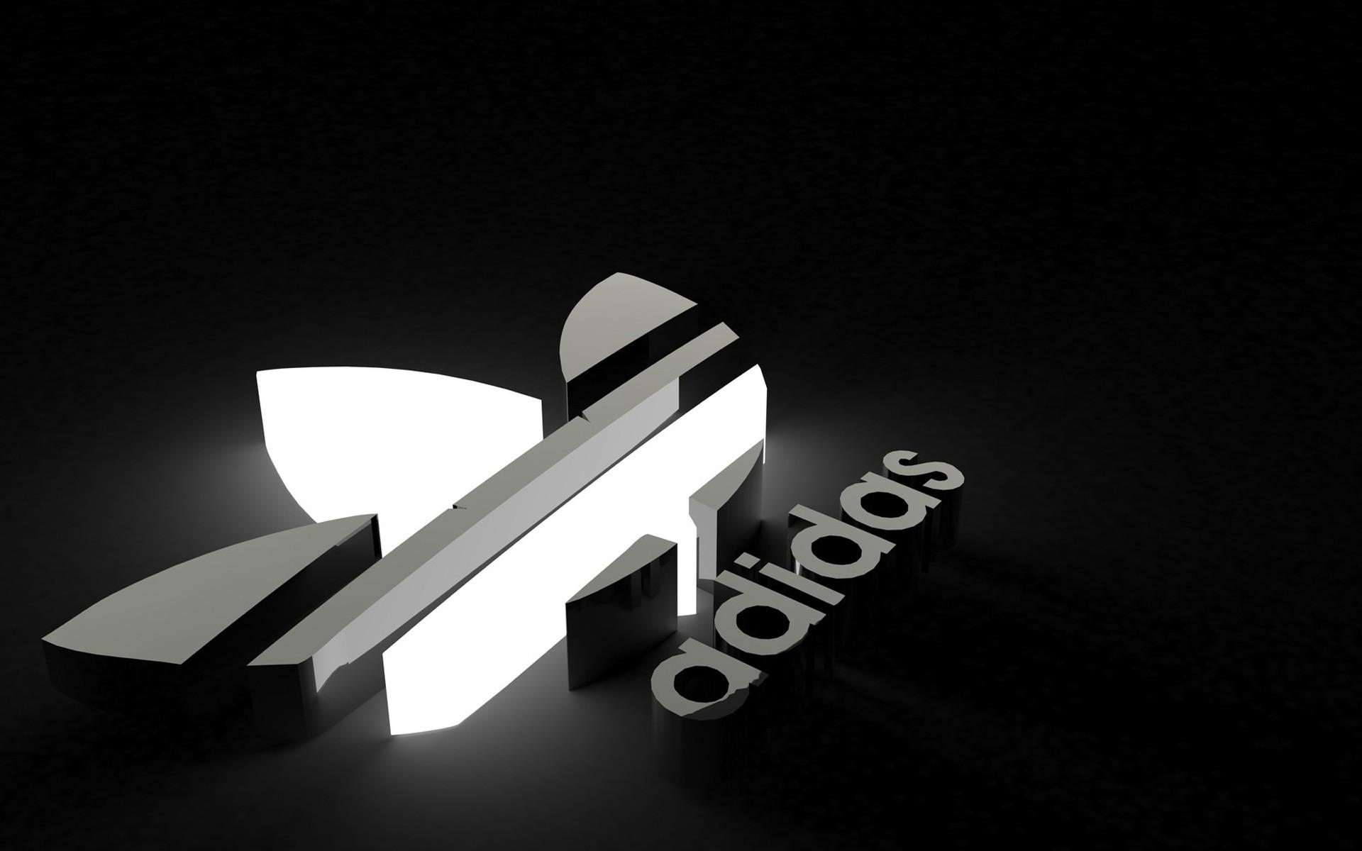 デスクトップ壁紙  黒, ロゴ, アディダス, ブランド, 人工照明