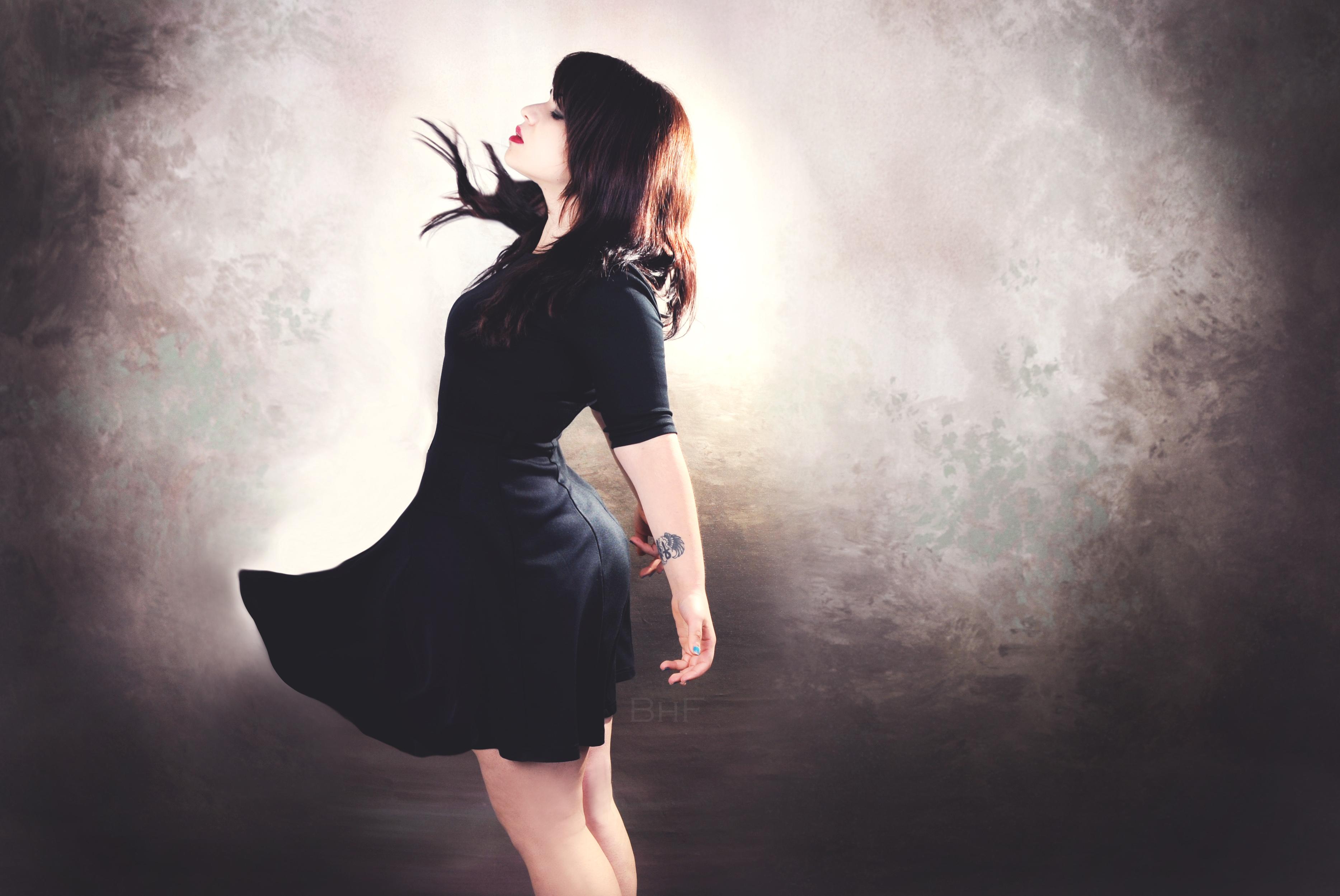 Wallpaper Black Model Shadow Photography Dress Tattoo