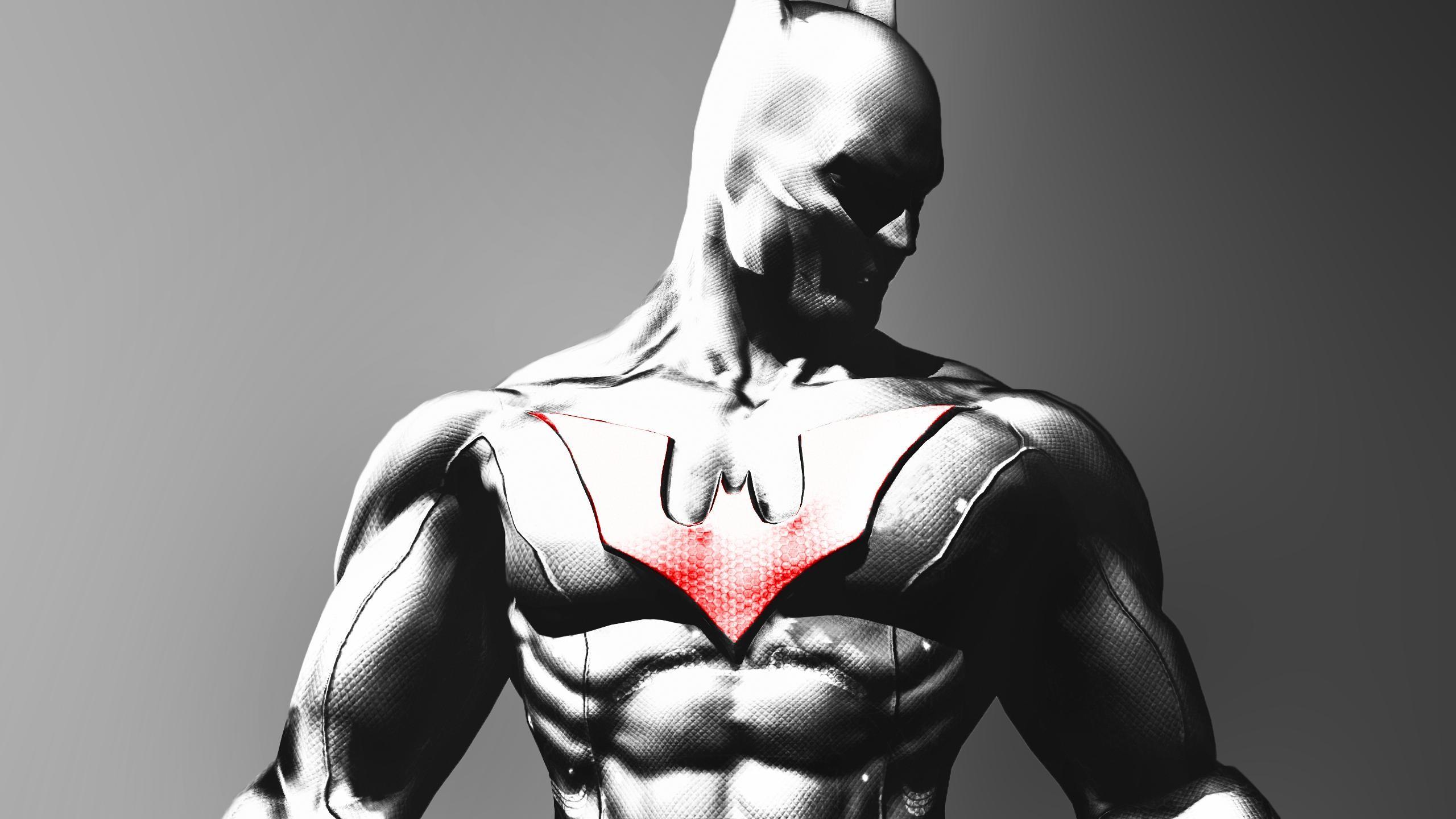 wallpaper monochrome batman arkham city superhero batman beyond
