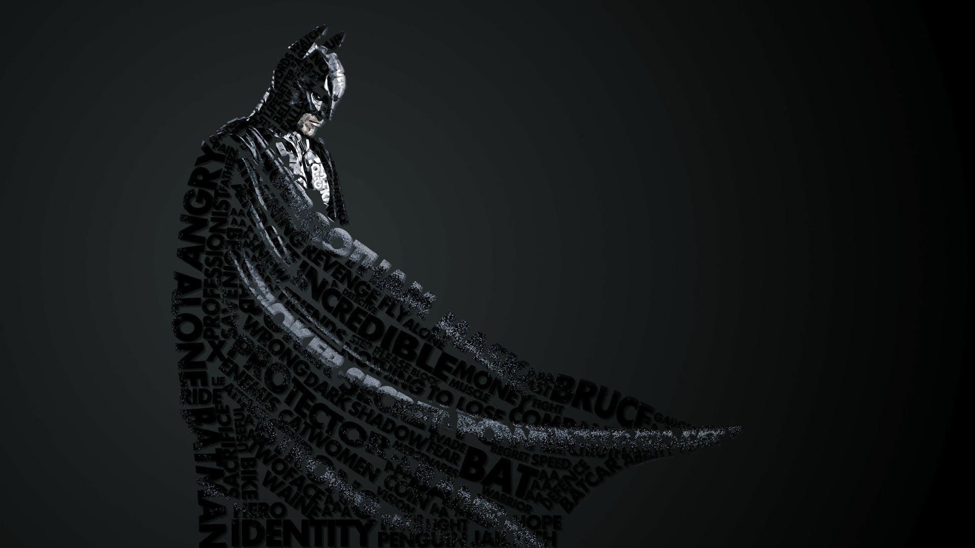 Wallpaper Batman Sculpture Art Style Darkness Wing Computer