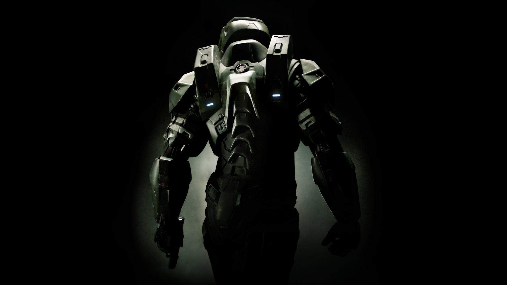 Wallpaper Black Monochrome Halo Master Chief Darkness