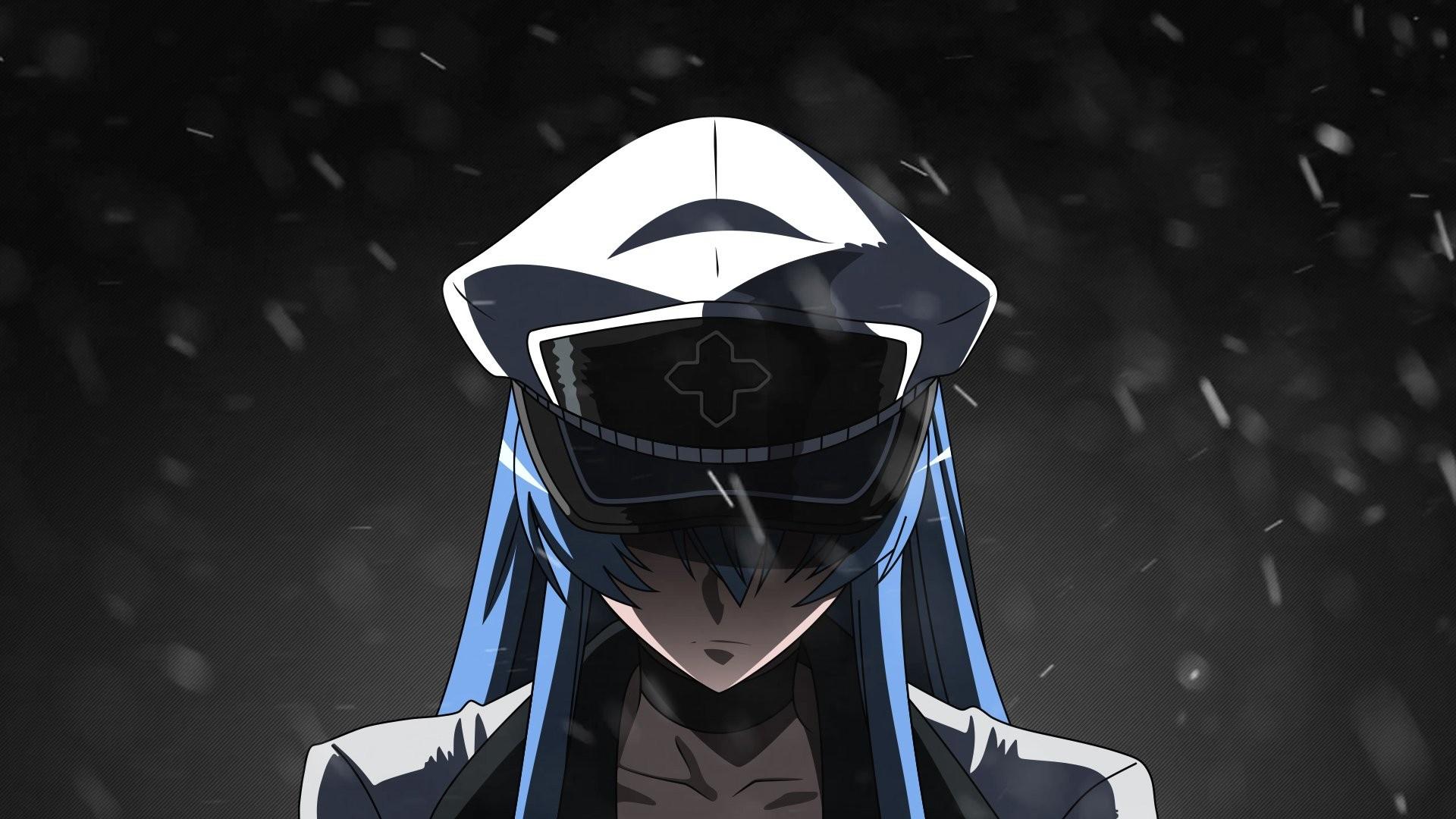 デスクトップ壁紙 黒 モノクロ アニメの女の子 アカメガキル