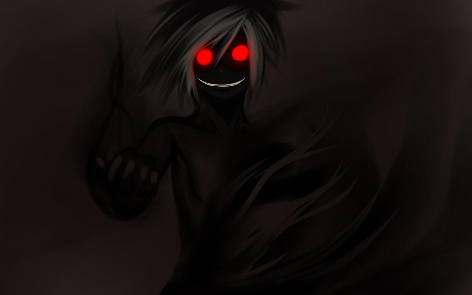 Black Monochrome Anime Manga Demon Darkness Screenshot Computer Wallpaper Human Body Fictional Character Organ