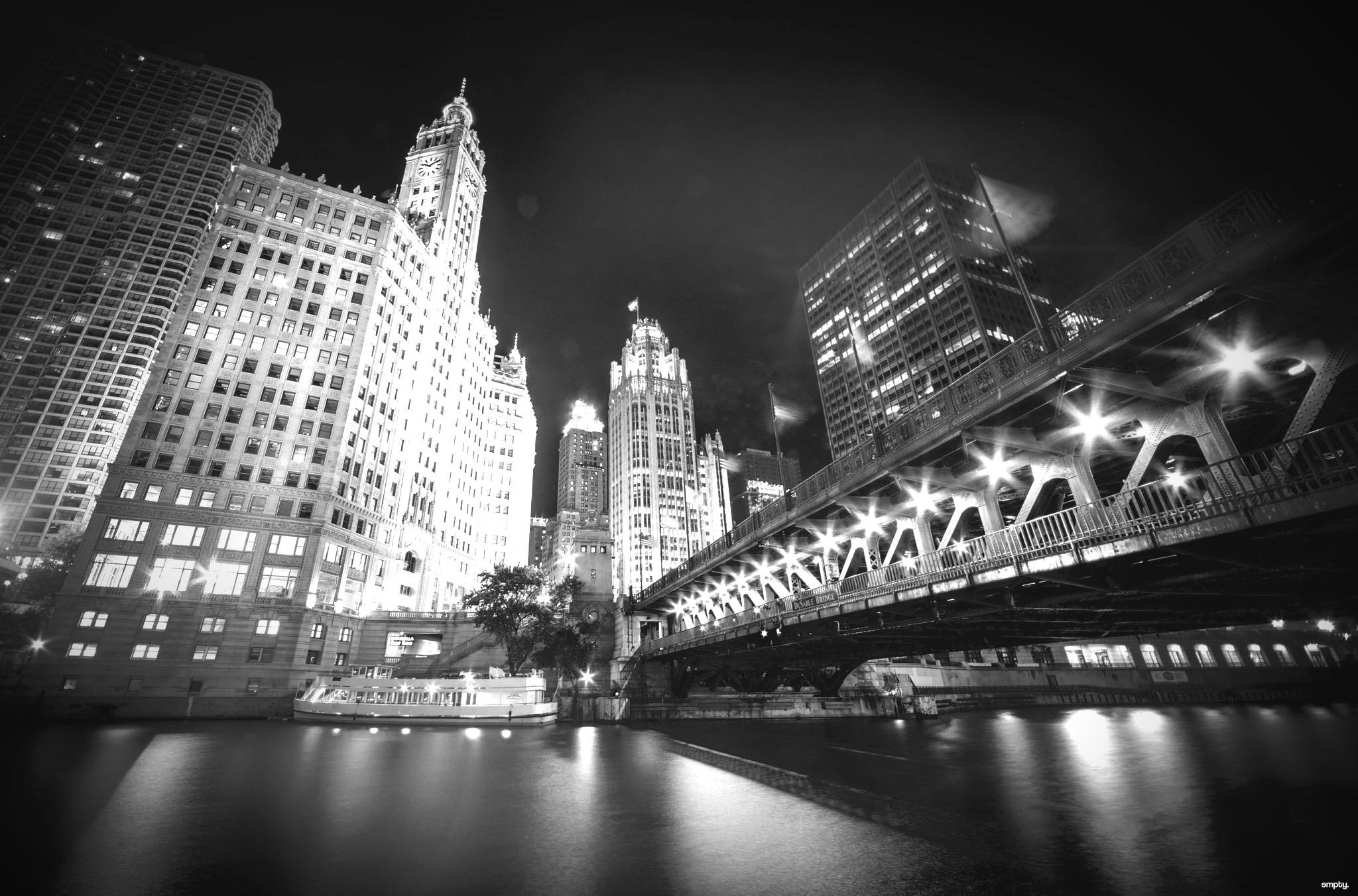 Wallpaper City Cityscape Night Architecture Reflection