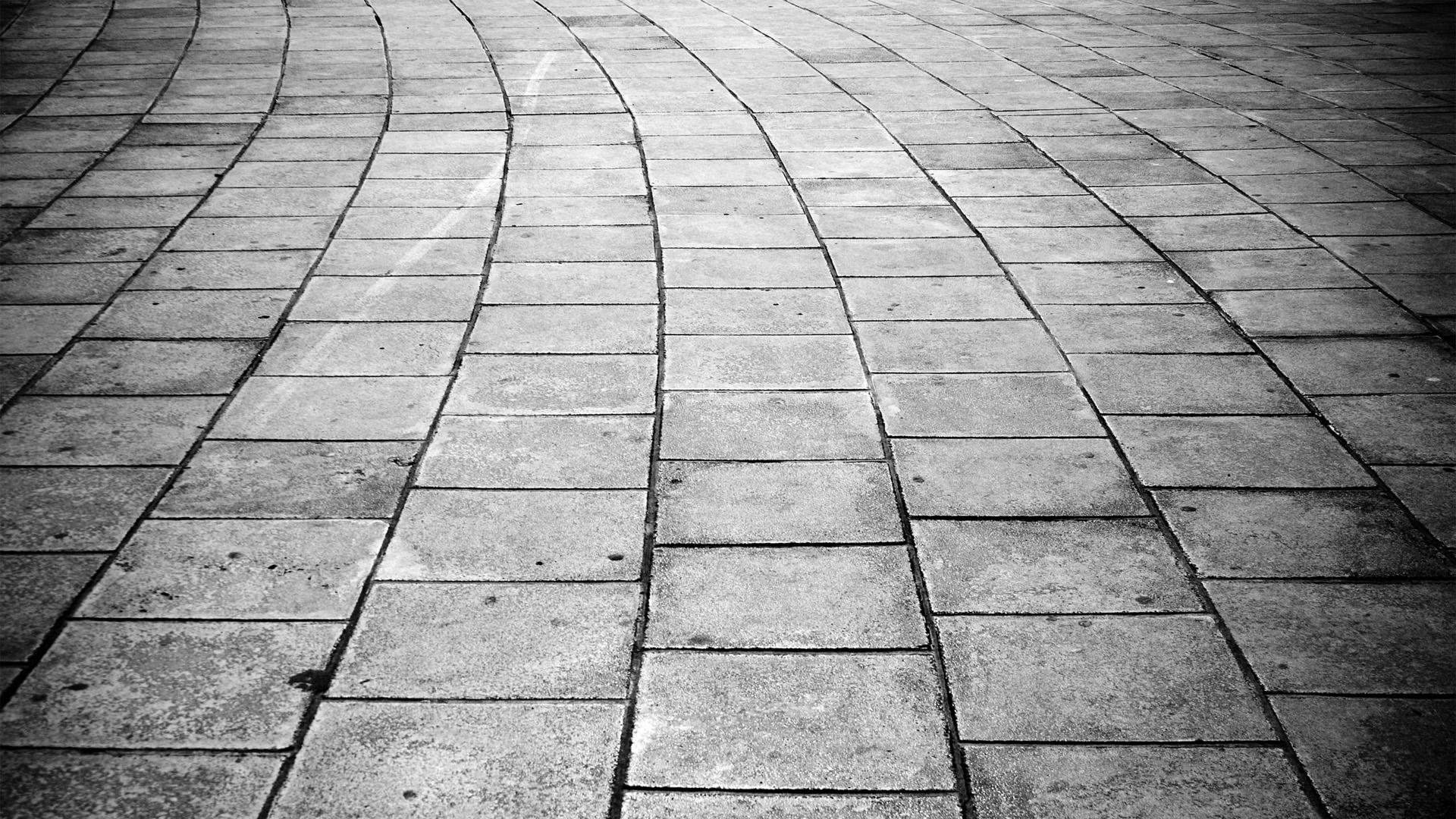 Sfondi : monocromo ciottolo cielo parete strada simmetria