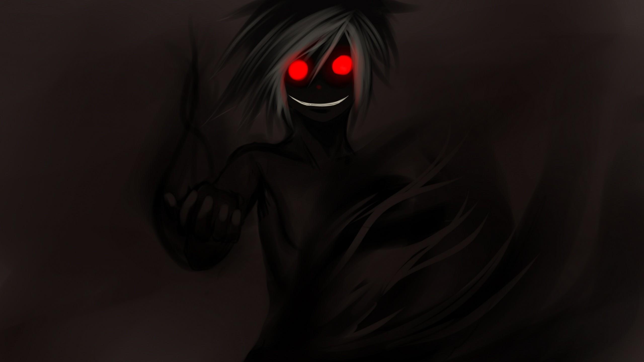 Wallpaper dark anime boys red eyes demon darkness - Wallpaper dark anime ...