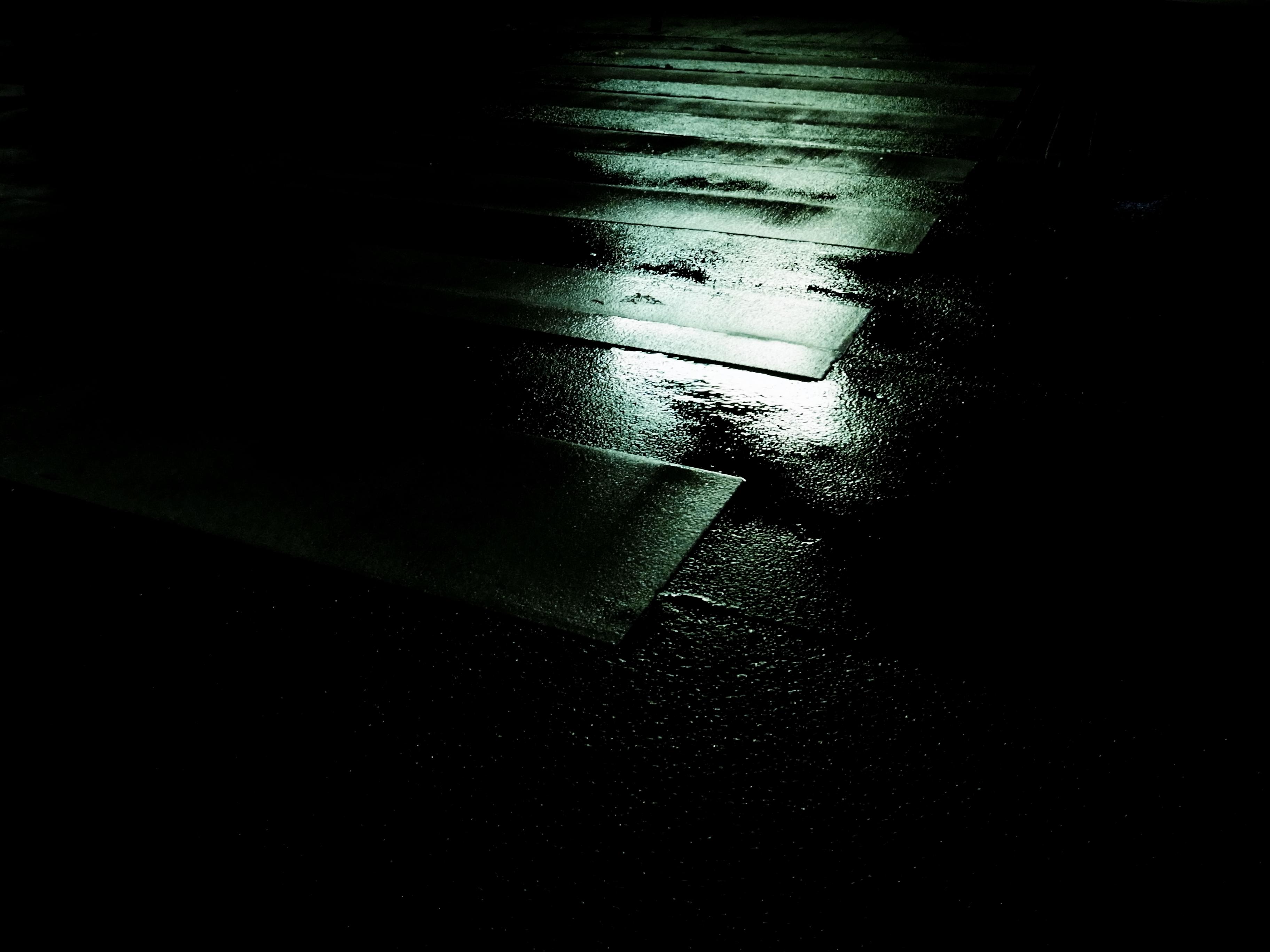 Wallpaper Monochrome Dark Street Night Water Urban Reflection Rain Road Atmosphere Bleach Stripes Walking Midnight Shining Light Walk