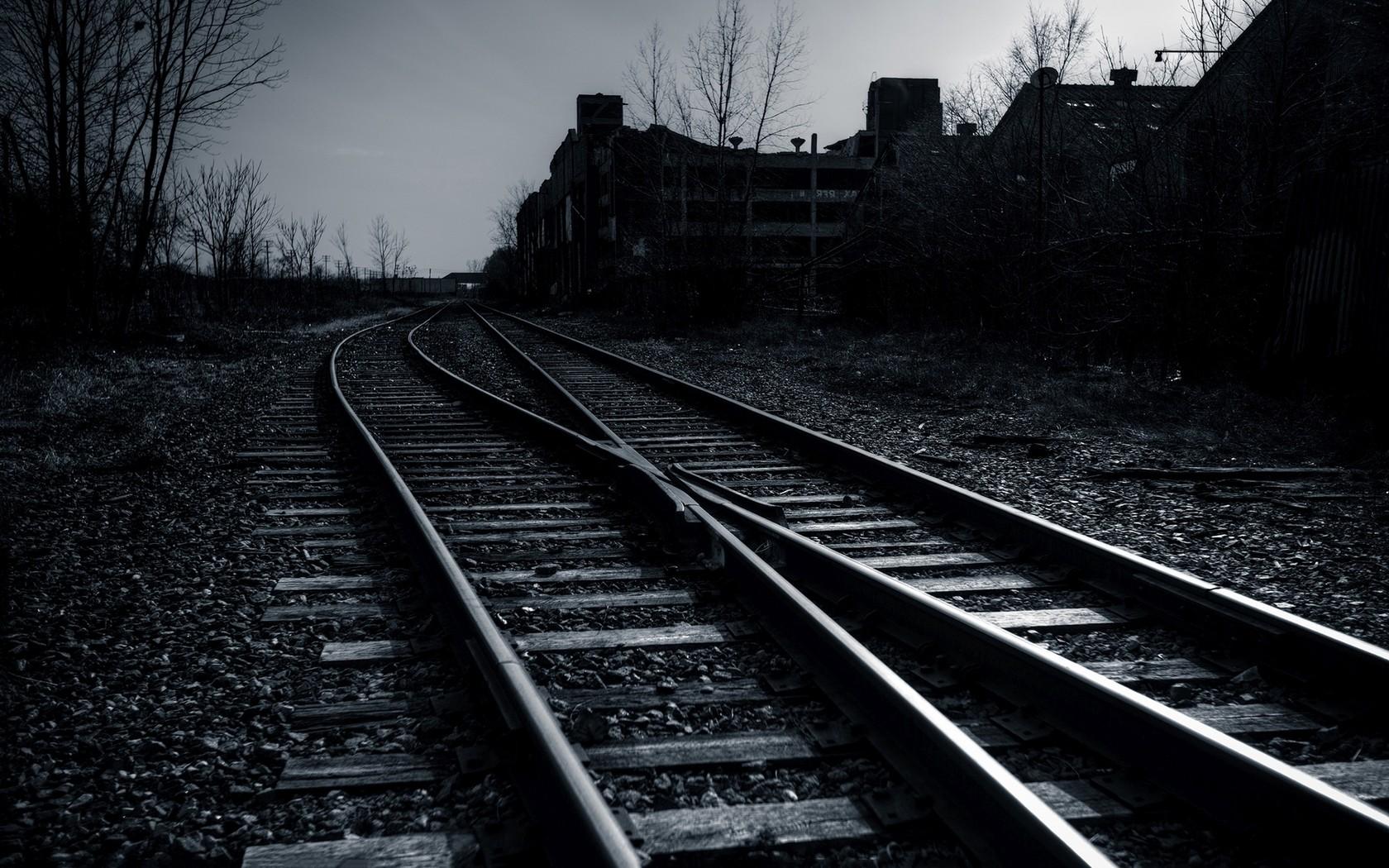 dark, vehicle, train, railway