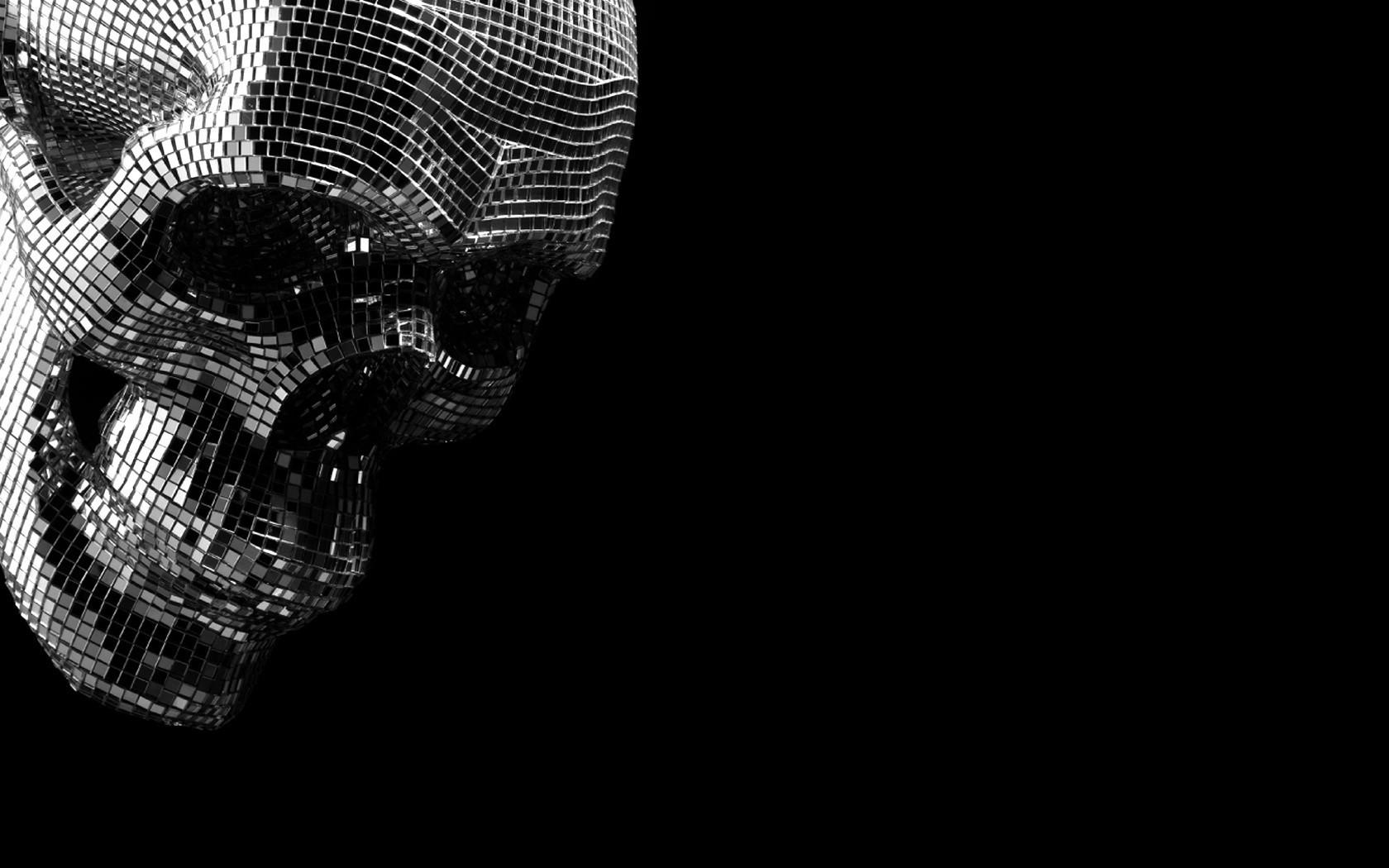 Black Monochrome Fantasy Art Spooky Pixels Skull Hand Darkness Arm 1680x1050 Px Computer Wallpaper And