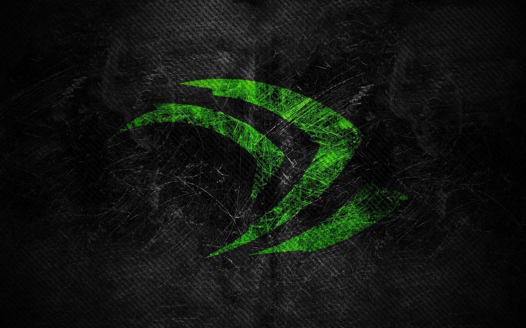 Sfondi Monocromo Logo Verde Cerchio Nvidia Foglia Linea