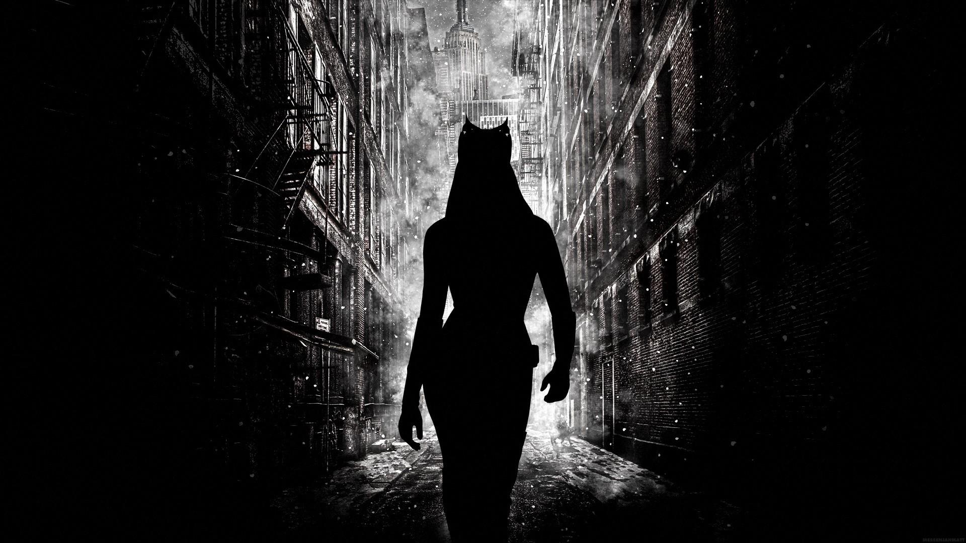 Wallpaper silhouette batman catwoman movies anne hathaway black monochrome photography silhouette batman catwoman movies anne hathaway the dark knight rises gotham city light voltagebd Images