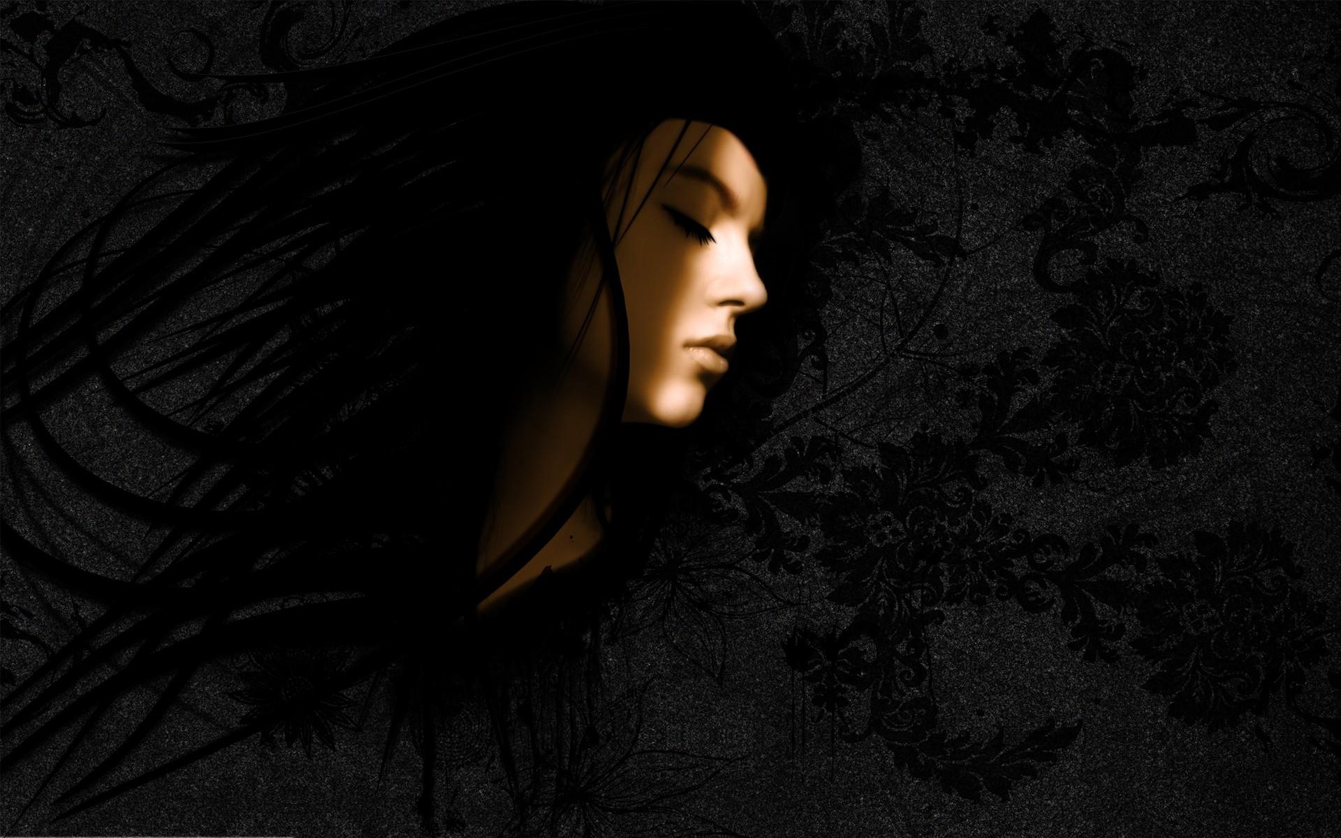 Wallpaper : brunette, shadow, light, girl, beauty
