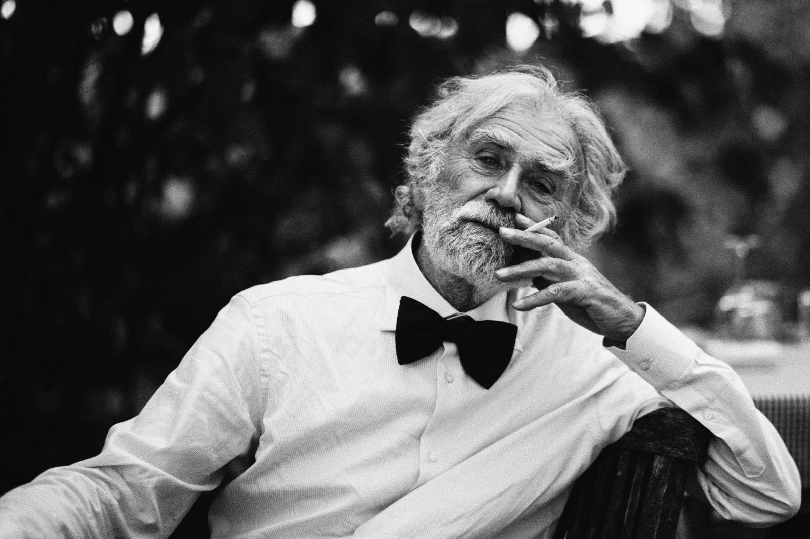 Black Monochrome Portrait Photography Smoking Gentleman Person Man Human Oldman Photograph Cigarette And White