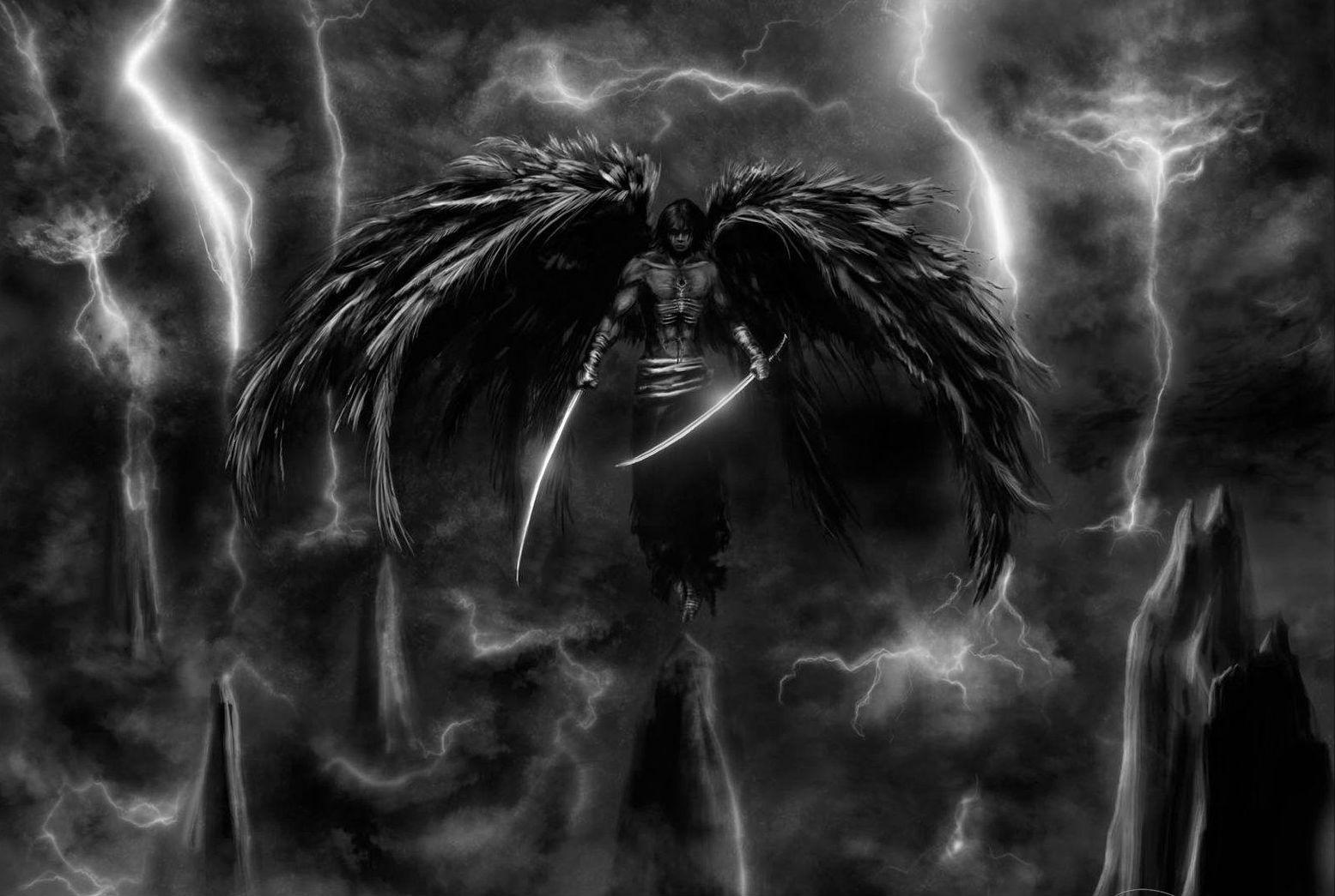 мальчика падший ангел обои на рабочий стол гром над головой