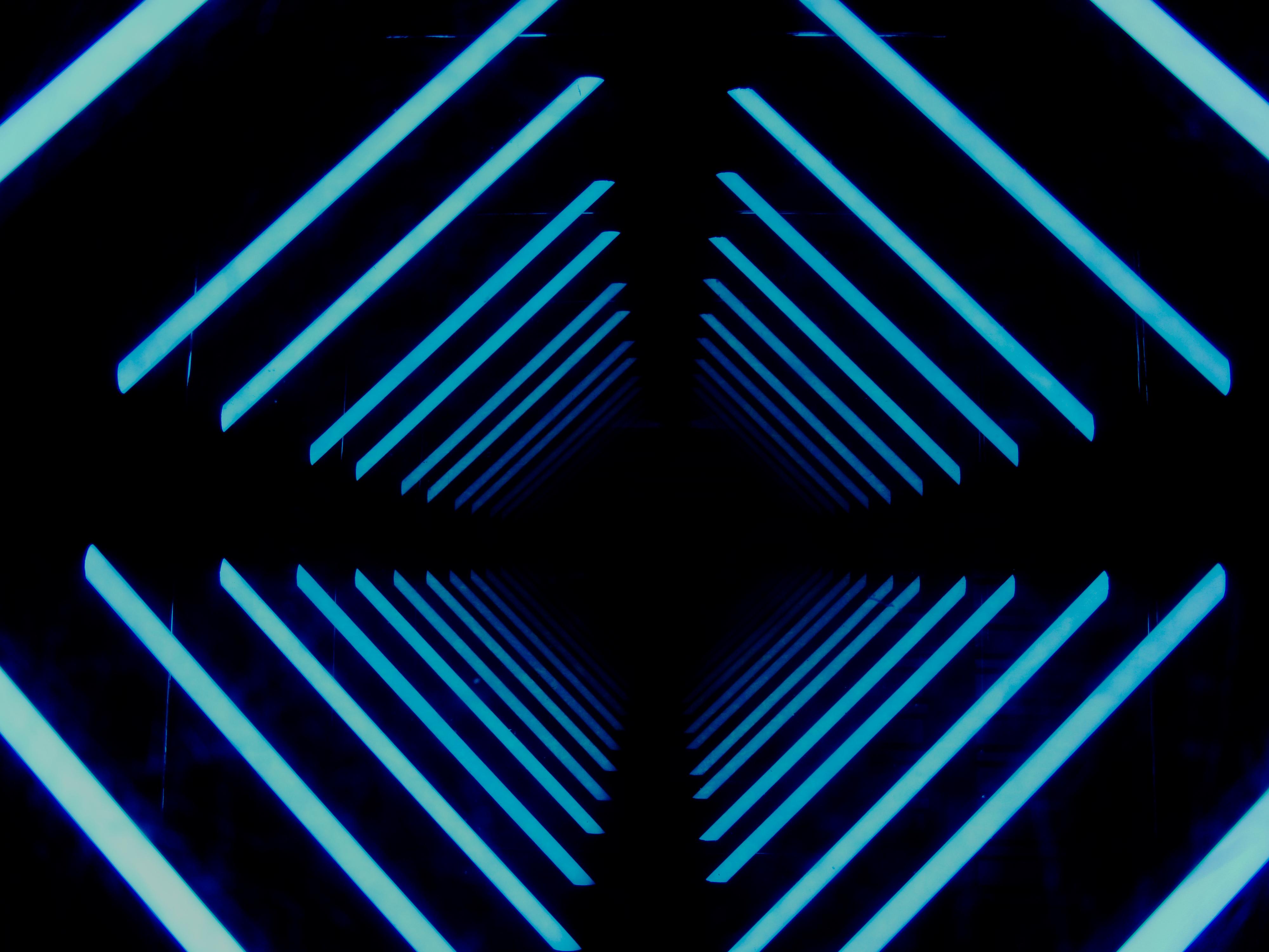 Wallpaper Black Neon Galaxy Symmetry Pattern Circle Angle