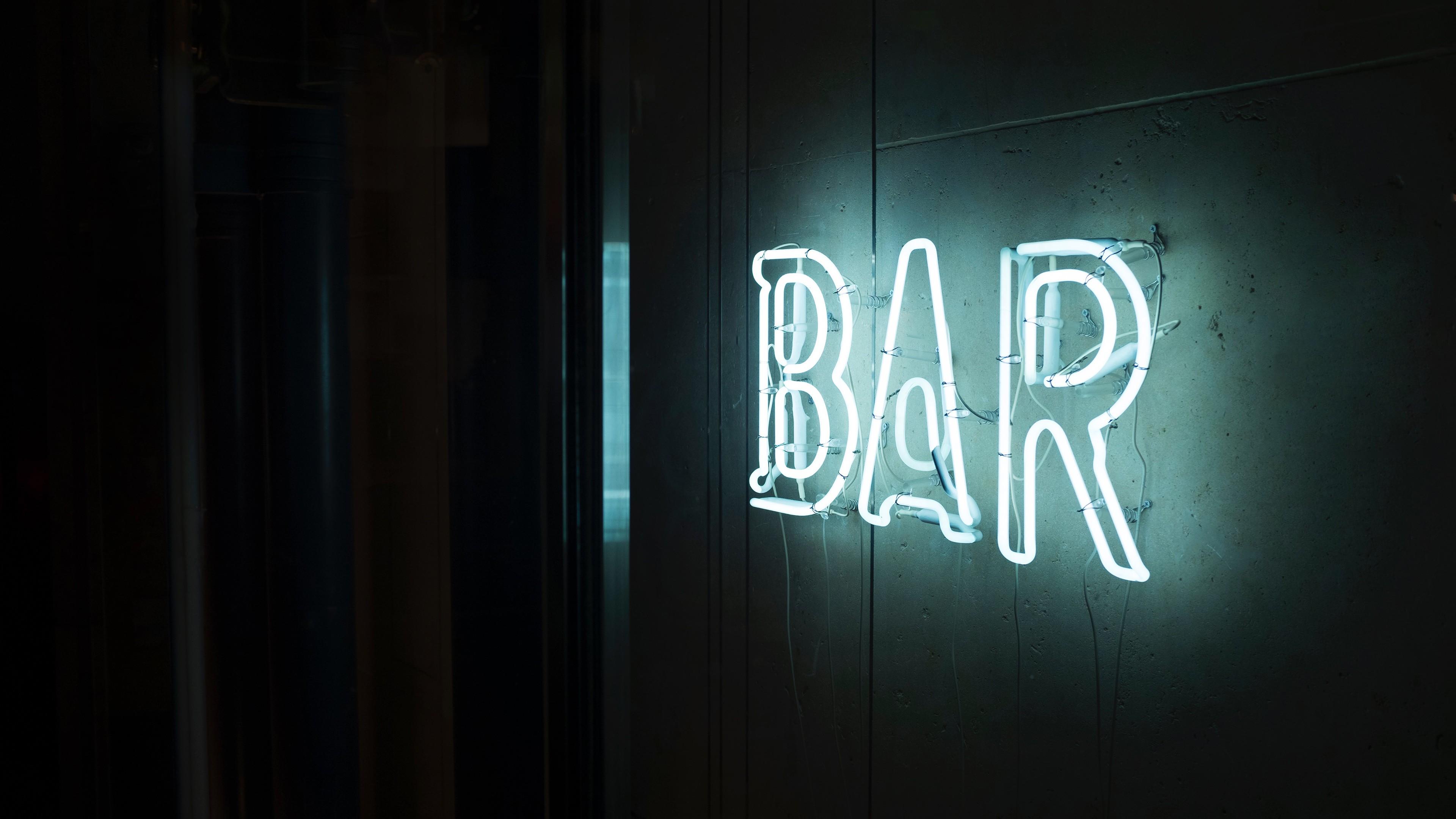 Wallpaper : black, night, photography, text, signs, bar
