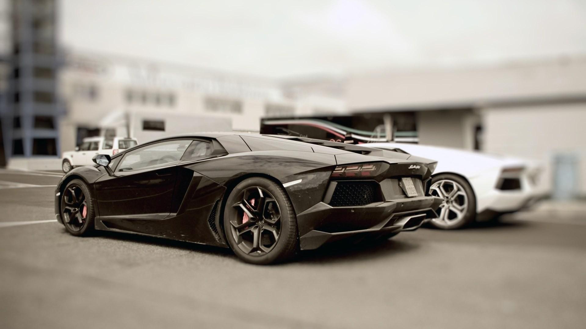 Wallpaper Black Stylish Cars Lamborghini 1920x1080