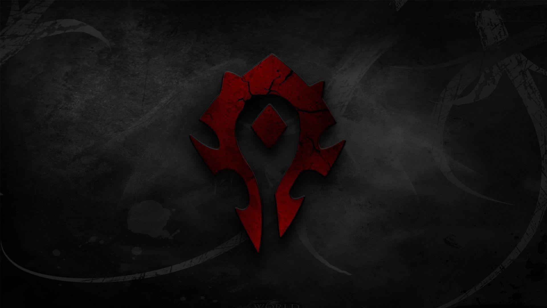 Wallpaper Black Video Games Red Logo Symmetry World Of
