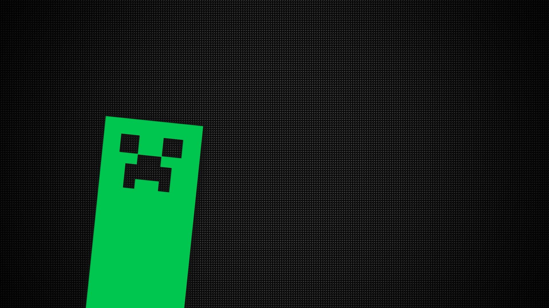black video games text Minecraft green creeper pattern brand shape design line darkness number screenshot 1920x1080