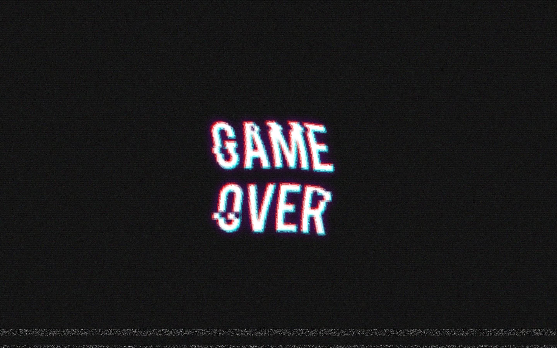 Wallpaper Black Video Games Text Logo Retro Games Distortion Game Over Brand Font 2880x1800 Hanako 73520 Hd Wallpapers Wallhere