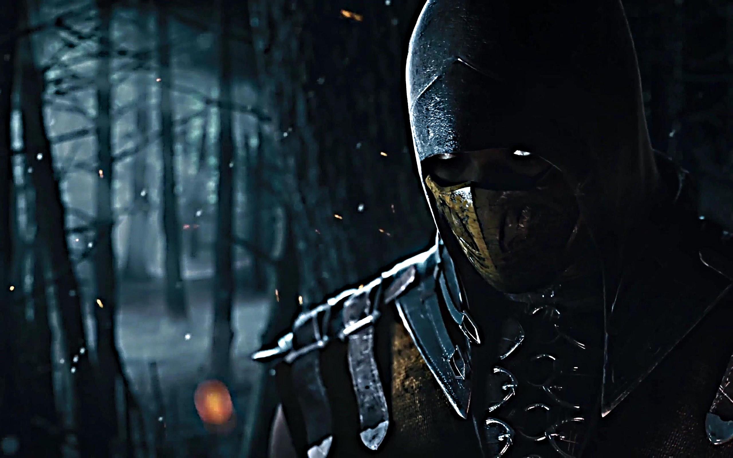 Black Warrior Mortal Kombat X Scorpion Character Light Darkness Screenshot Computer Wallpaper