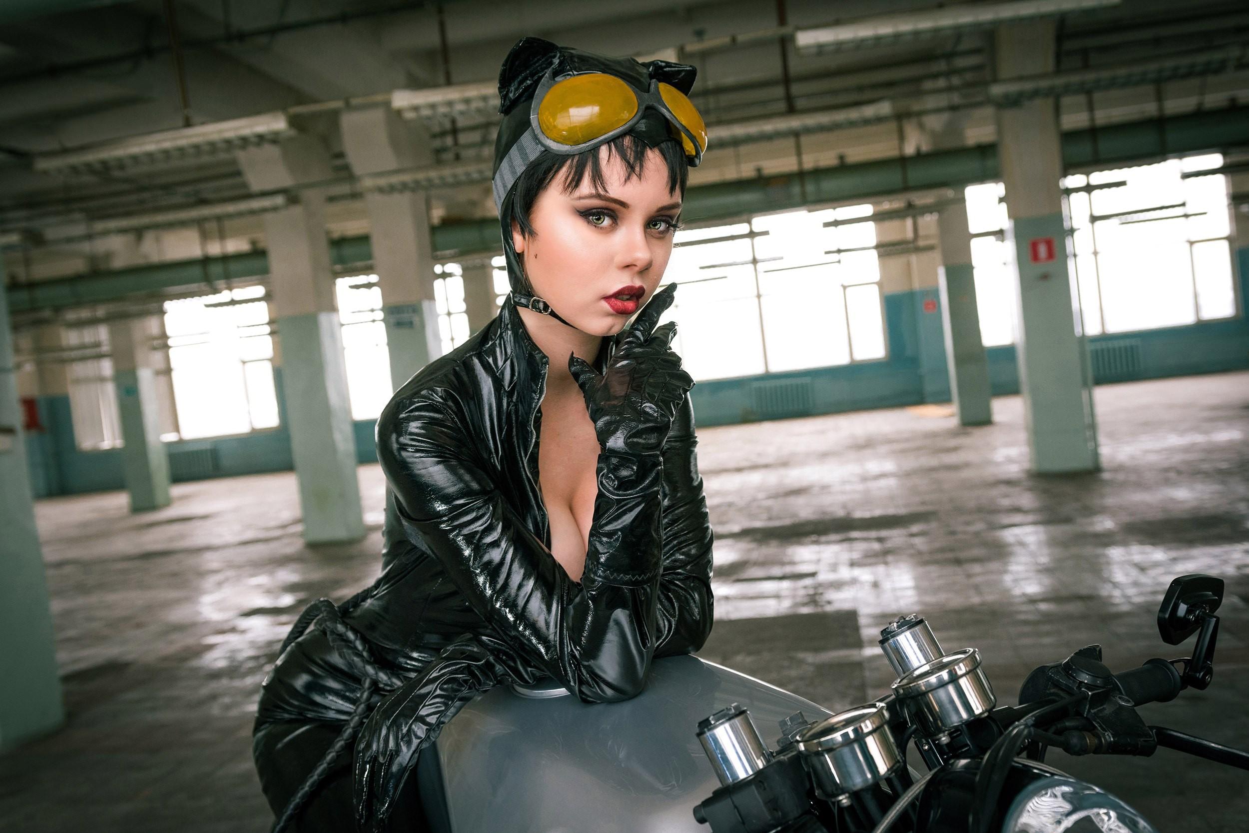 Wallpaper  Women, Cosplay, Model, Portrait, Motorcycle -4095