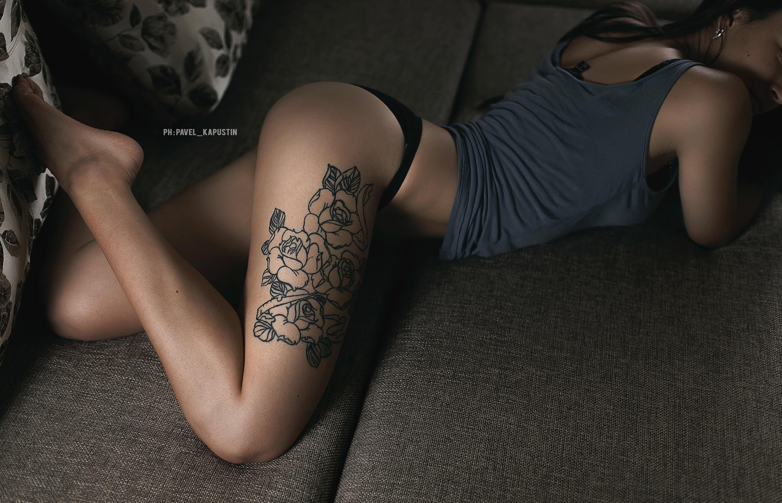 фото сексуальных тату на женских ножках - 5
