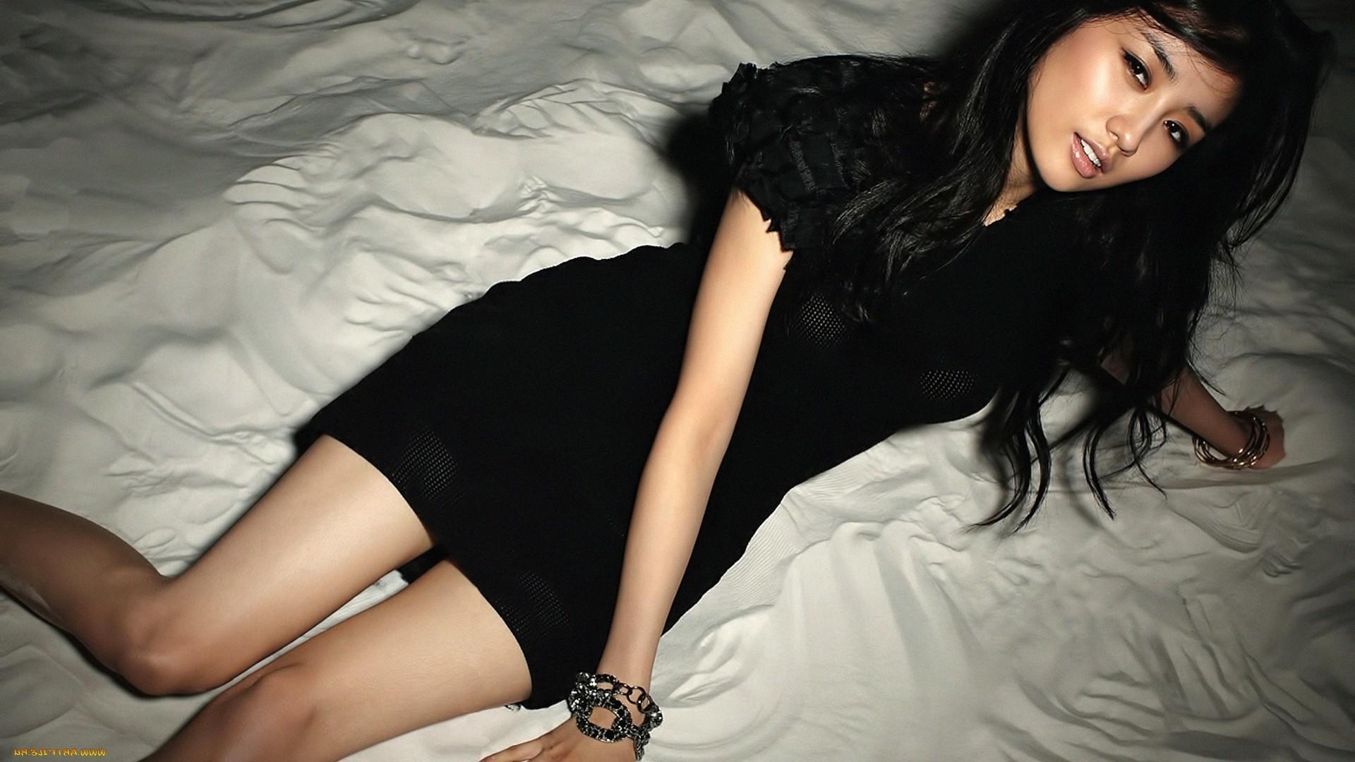 Wallpaper Women Model Long Hair Asian Singer Blue: Wallpaper : Women, Long Hair, Asian, Dress, Black Hair