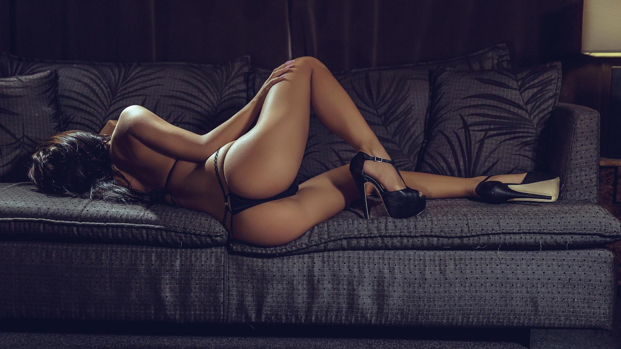 Sexy legs erotic nude petite in heels