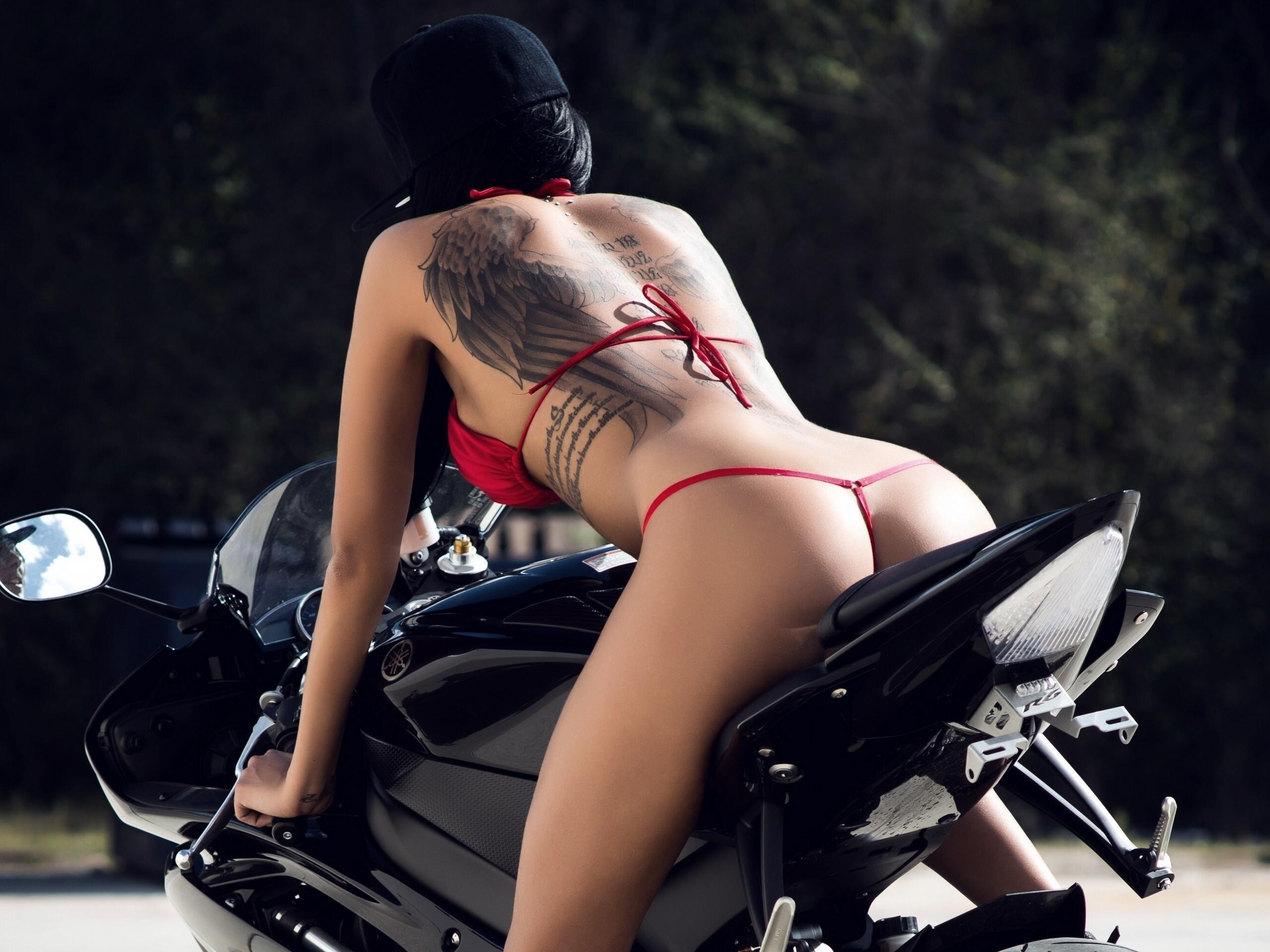 Men on motorbikes
