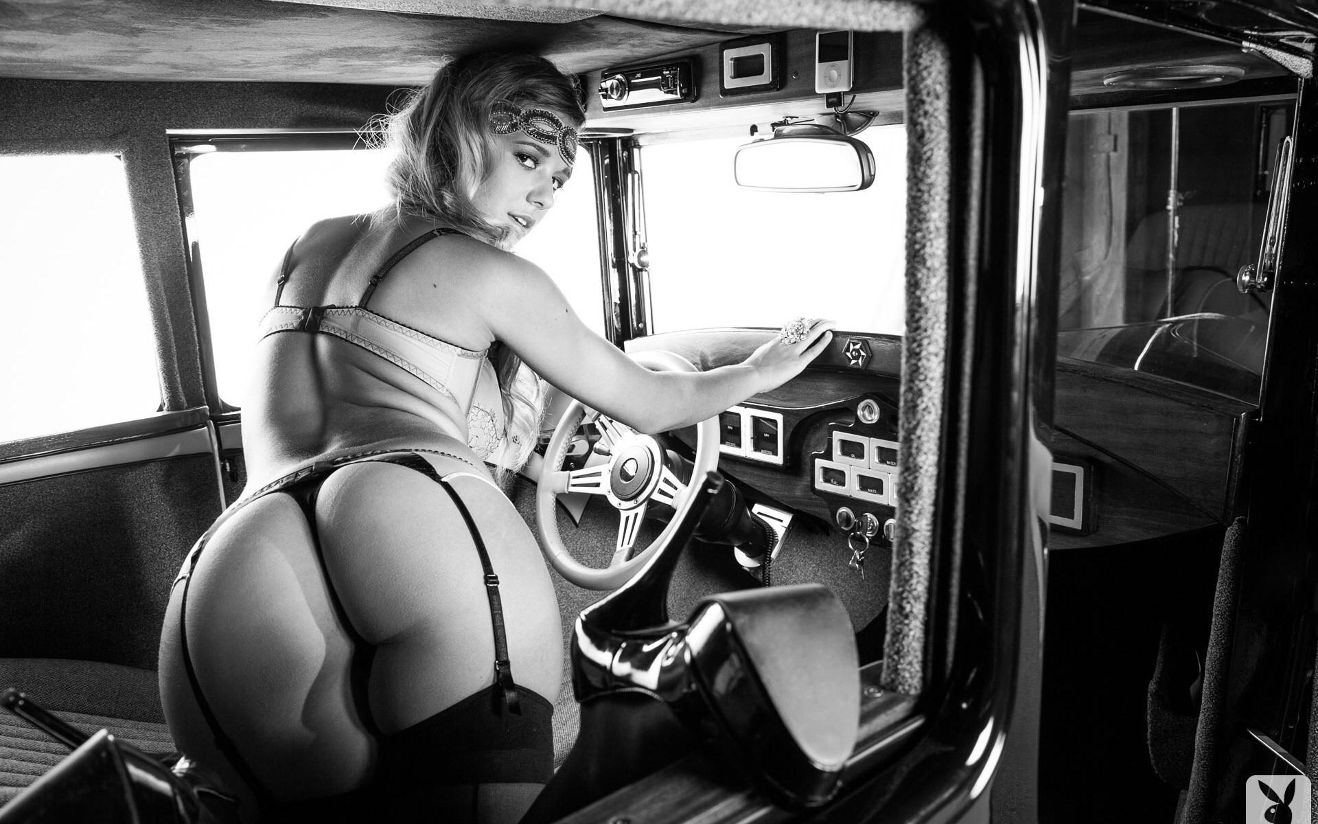 wallpaper women model blonde car ass vehicle