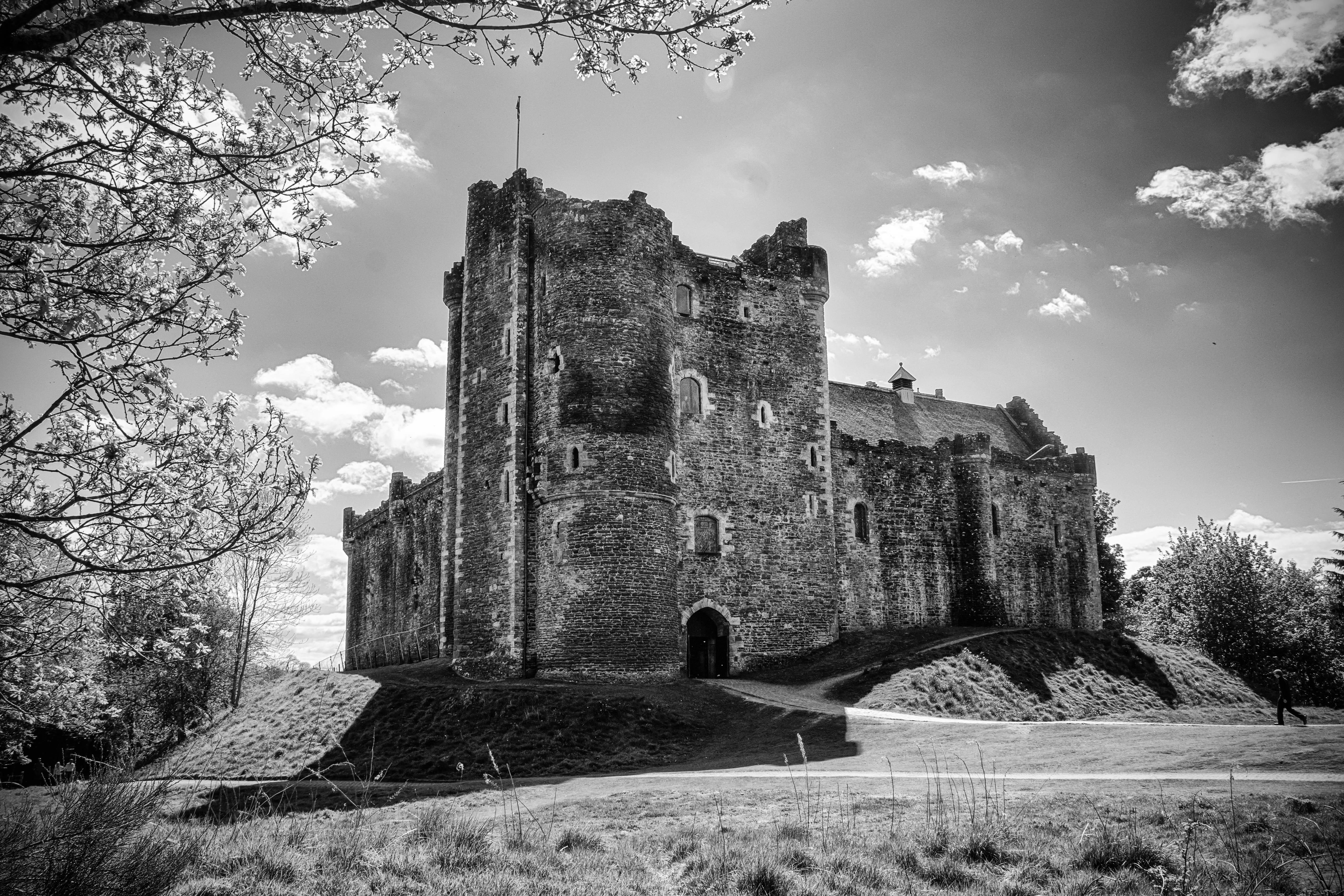 bw, 建物, 城, 歴史, モノクロ, 建築, スコットランド, ニコン, 遺跡, ノワレブラン, 屋外, ニッコー, デンキャスル,  映画の場所, ゲーム・オブ・スローンズ,